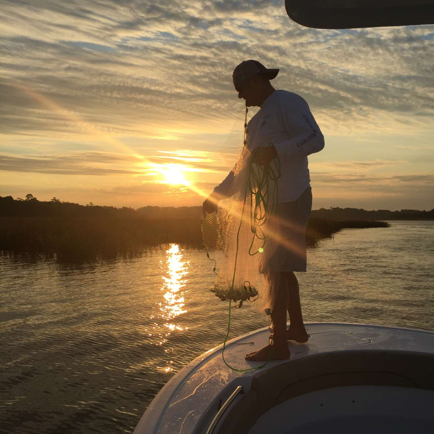 Title: Sunrise On The Wando - On board their Sportsman Heritage 211 Center Console - Location: Mount Pleasant, South Carolina. Participating in the Photo Contest #SportsmanFebruary2017