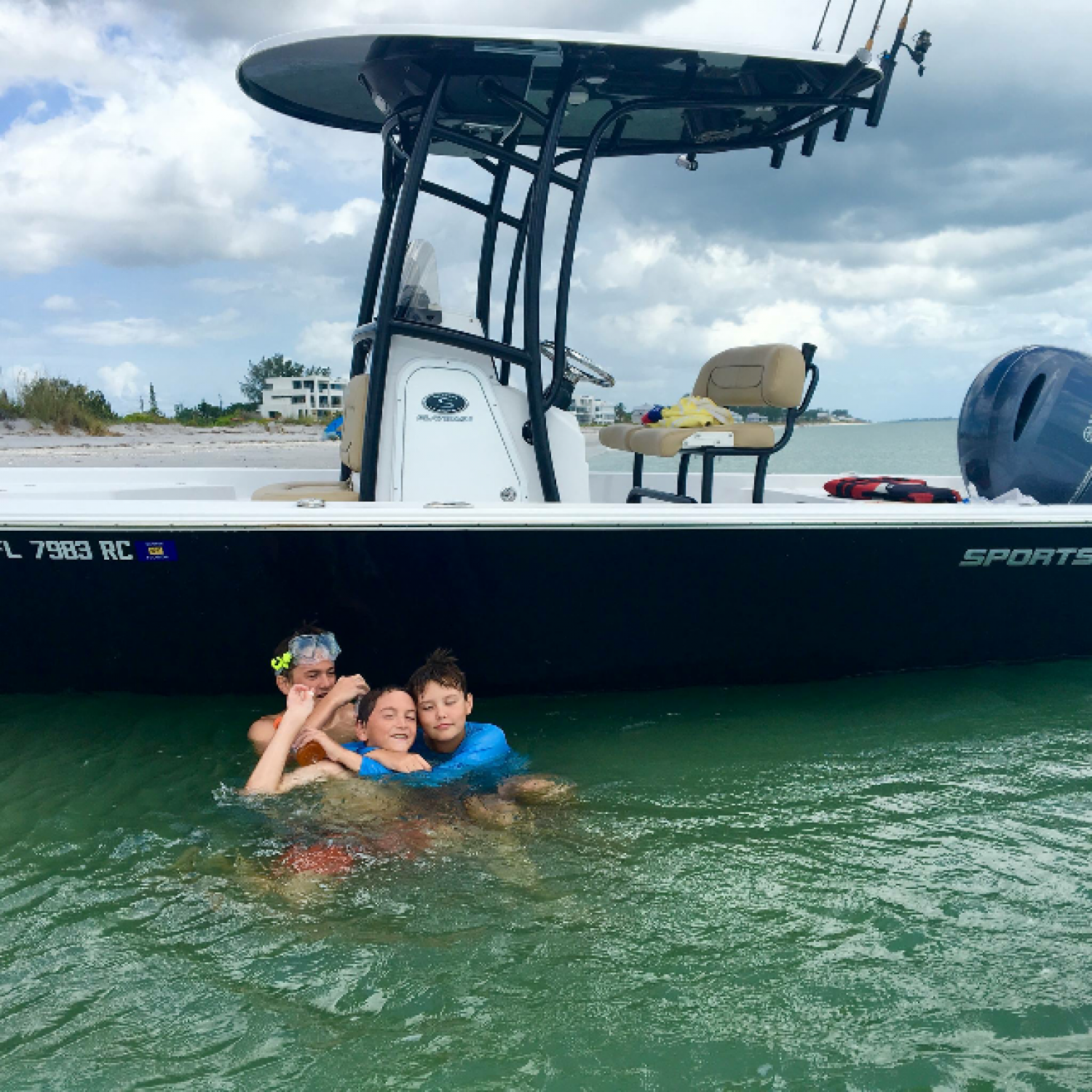 Title: Family Time - On board their Sportsman Masters 227 Bay Boat - Location: Valrico, Florida. Participating in the Photo Contest #SportsmanJanuary2017
