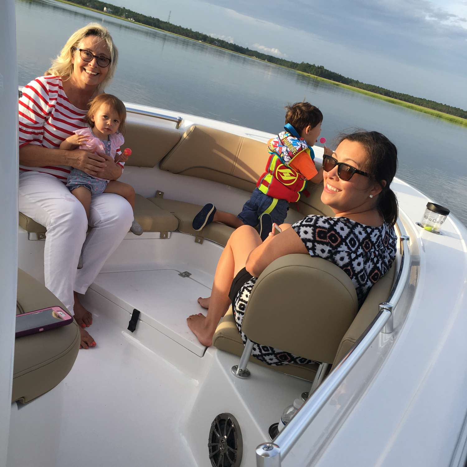 Title: Family Fun - On board their Sportsman Heritage 231 Center Console - Location: Charleston, South Carolina. Participating in the Photo Contest #SportsmanJuly2017