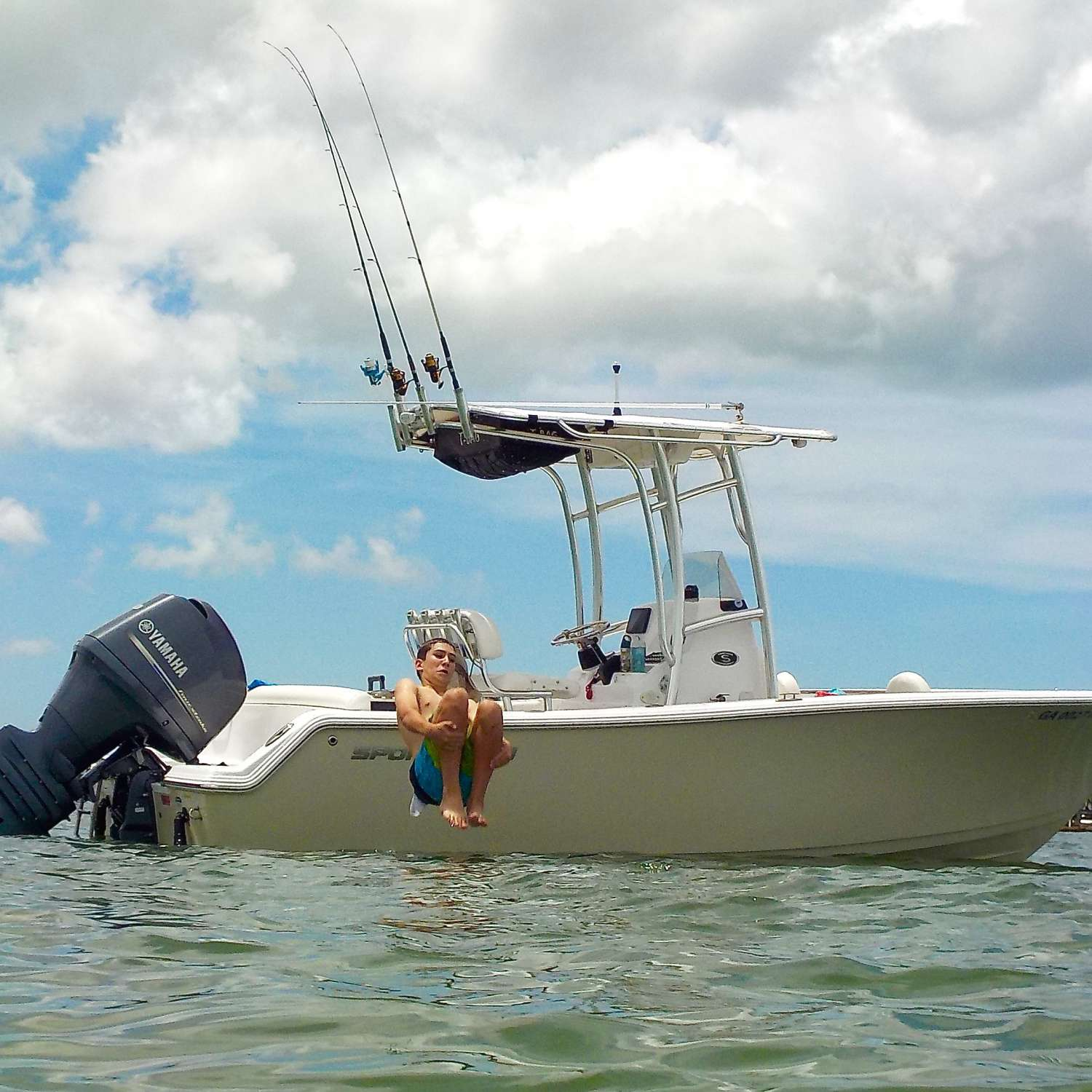 Title: Luke Flip - On board their Sportsman Heritage 211 Center Console - Location: Sarasota, Florida. Participating in the Photo Contest #SportsmanJuly2017