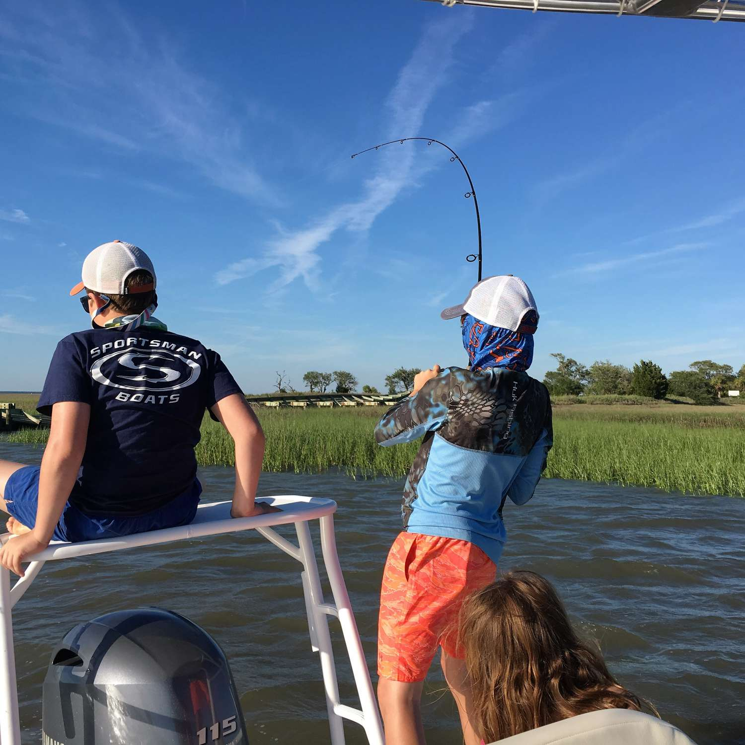 Title: First Fish On Our New Sportsman ! - On board their Sportsman Island Bay 20 Bay Boat - Location: Saluda, South Carolina. Participating in the Photo Contest #SportsmanJuly2017