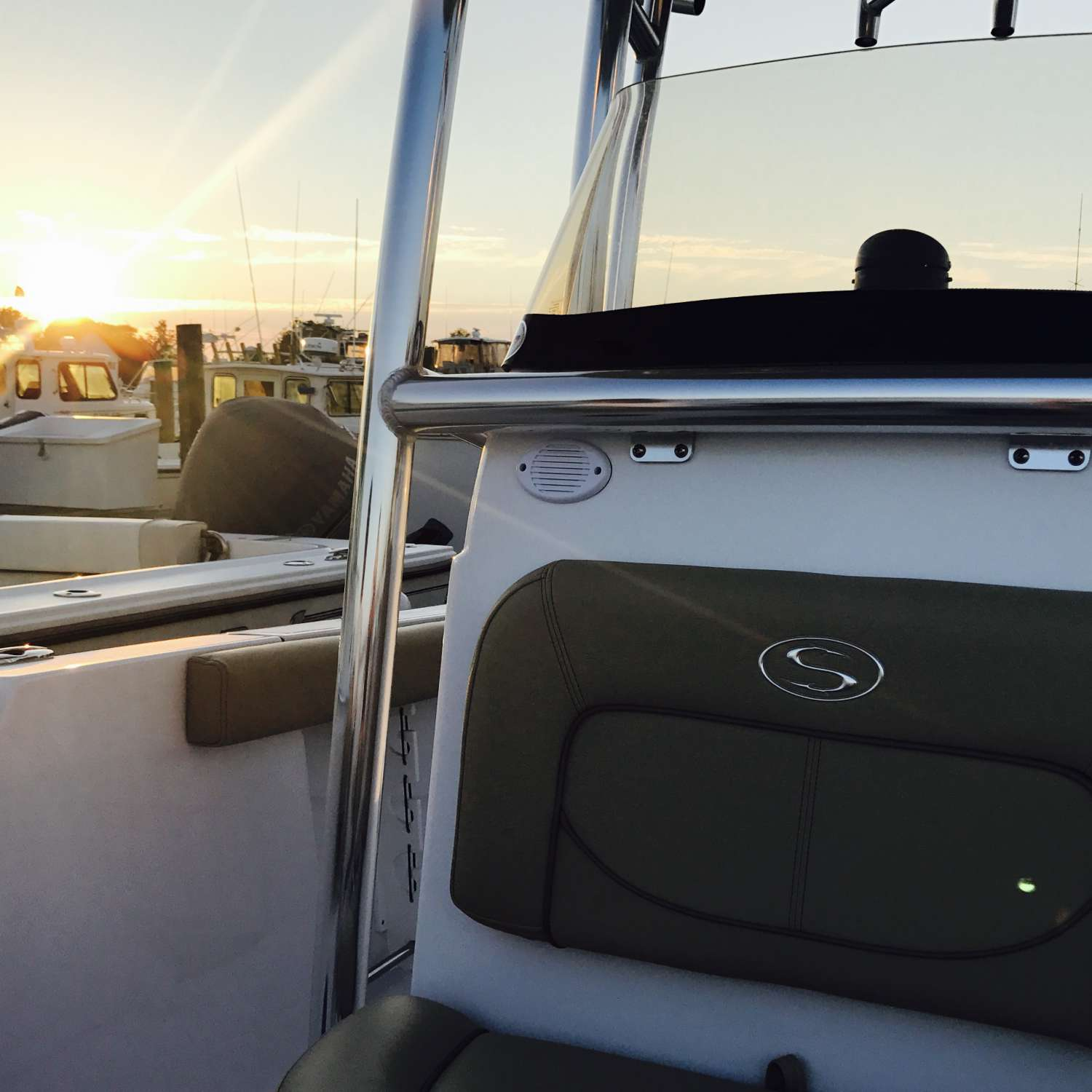 Title: 232 Opn Sunset - On board their Sportsman Open 232 Center Console - Location: Waterford, Connecticut. Participating in the Photo Contest #SportsmanJuly2017