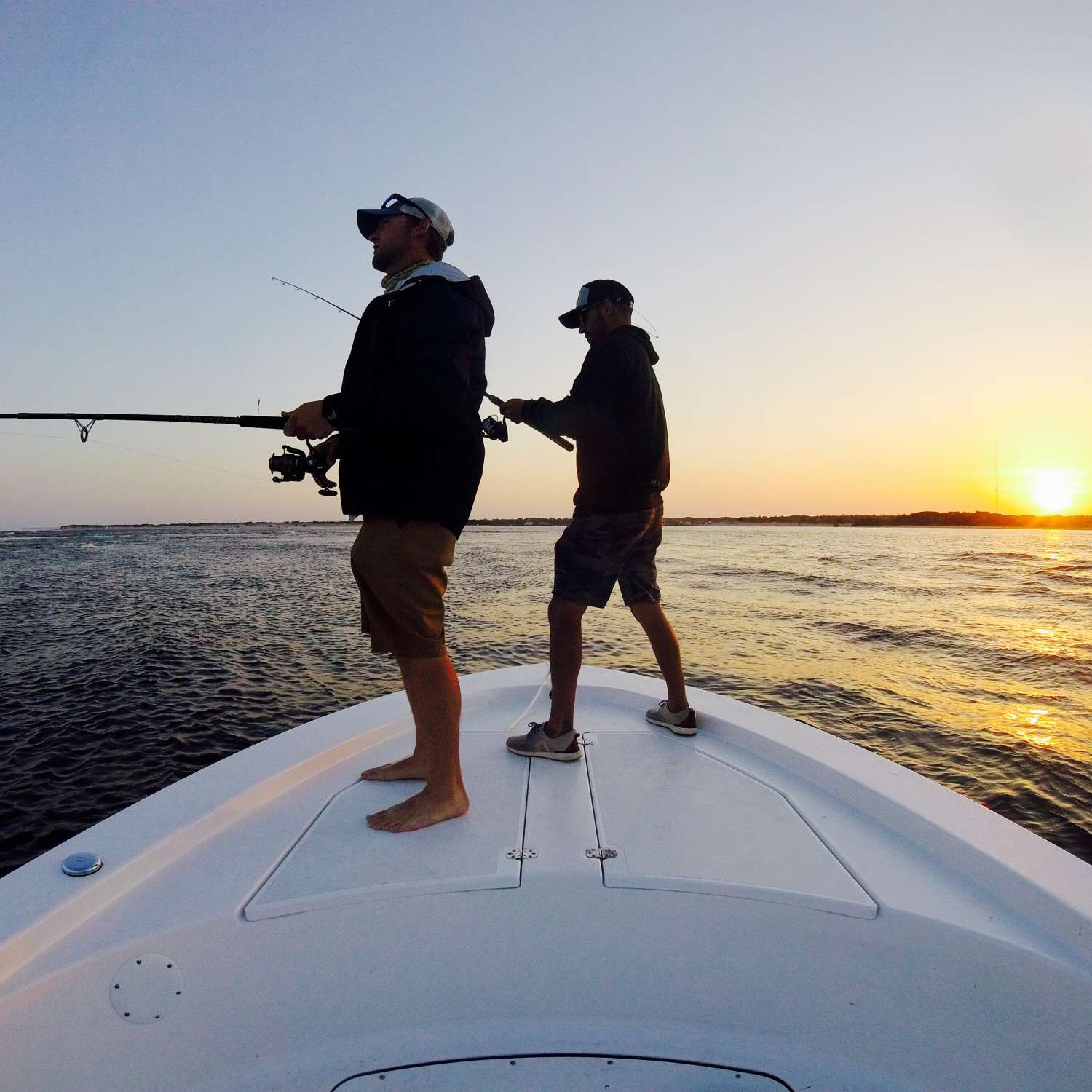Title: Chasing The Sun - On board their Sportsman Island Bay 20 Bay Boat - Location: Wilmington, North Carolina. Participating in the Photo Contest #SportsmanJune2017