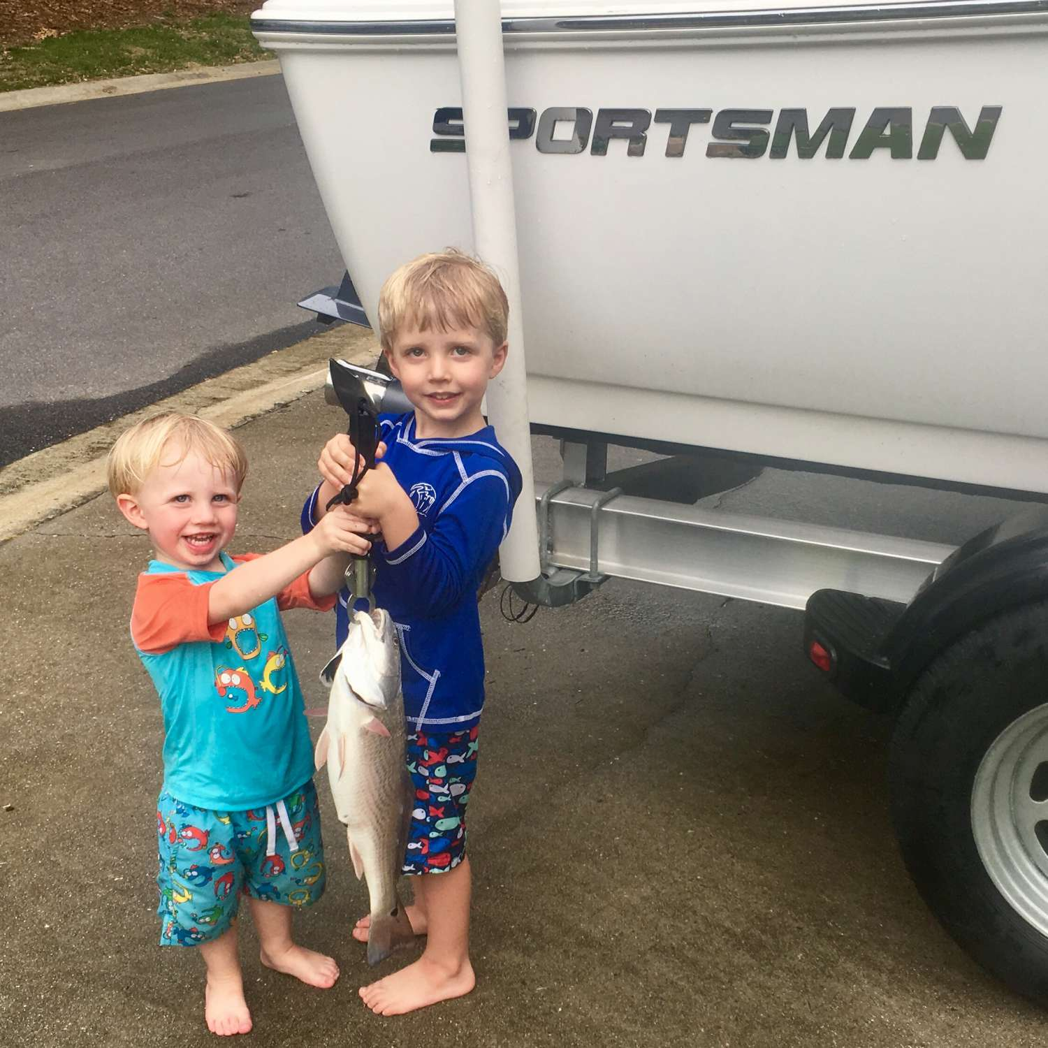 Title: Sportsman Brothers! - On board their Sportsman Island Reef 17 Center Console - Location: Mount Pleasant, South Carolina. Participating in the Photo Contest #SportsmanJune2017