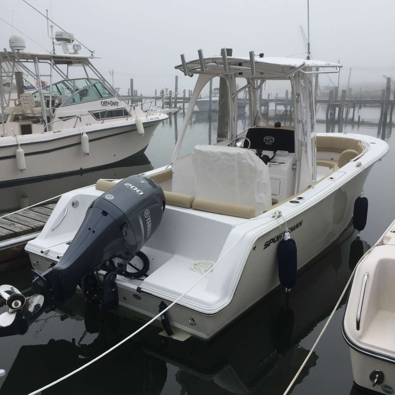 Title: Pick Up Day In New England 2017 - On board their Sportsman Heritage 231 Center Console - Location: Cranston, Rhode Island. Participating in the Photo Contest #SportsmanJune2017