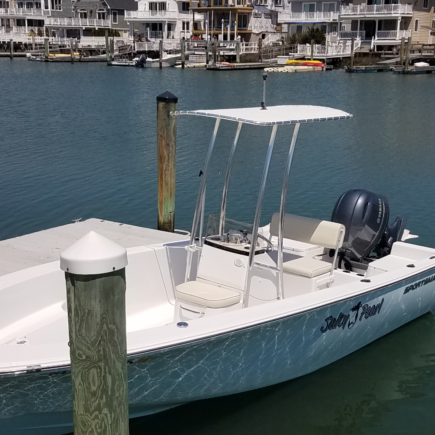 Title: Salty Pearl - On board their Sportsman Island Reef 19 Center Console - Location: Lebanon, Pennsylvania. Participating in the Photo Contest #SportsmanJune2017
