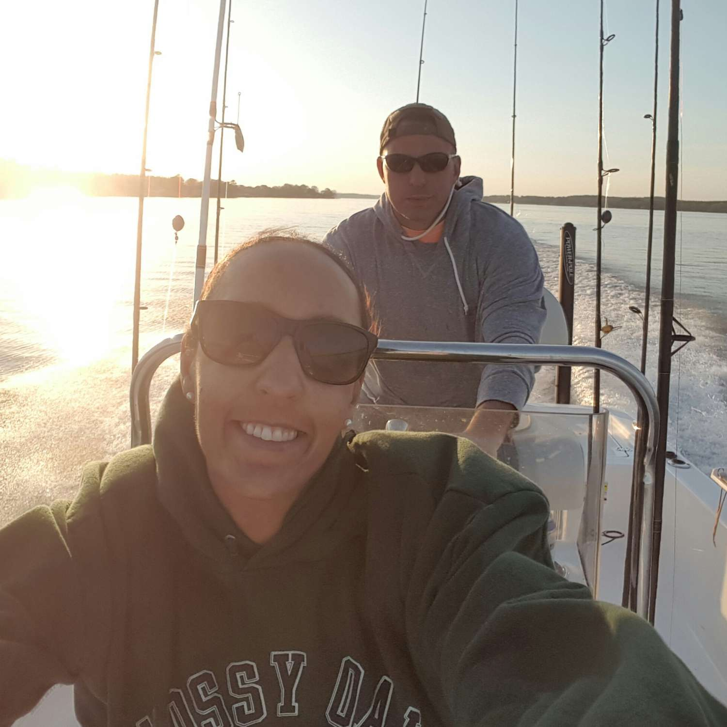 Title: Life Is Good Today - On board their Sportsman Island Bay 20 Bay Boat - Location: Camden, South Carolina. Participating in the Photo Contest #SportsmanMarch2017