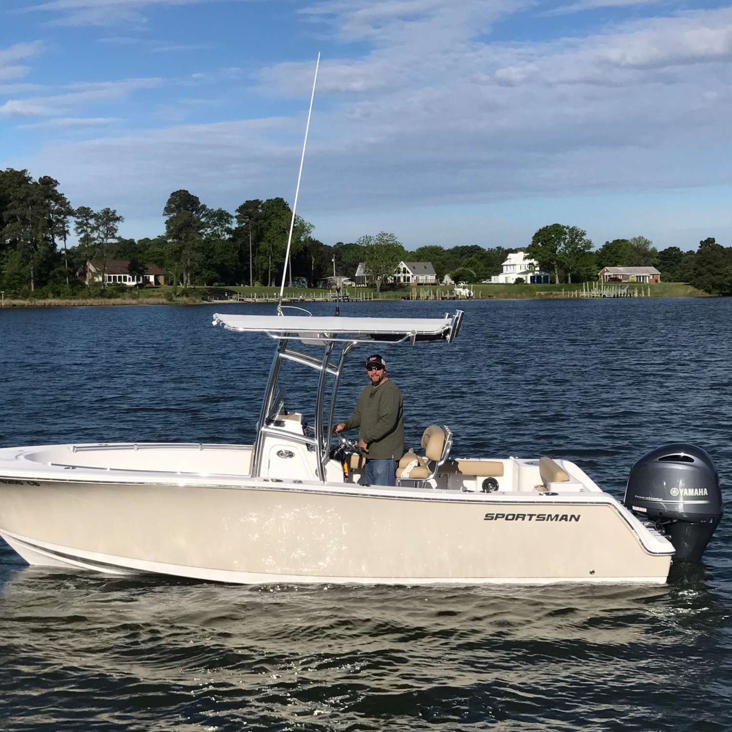 Title: Maiden Voyage In My 232 Open - On board their Sportsman Open 232 Center Console - Location: Silver Spring, Maryland. Participating in the Photo Contest #SportsmanMay2017