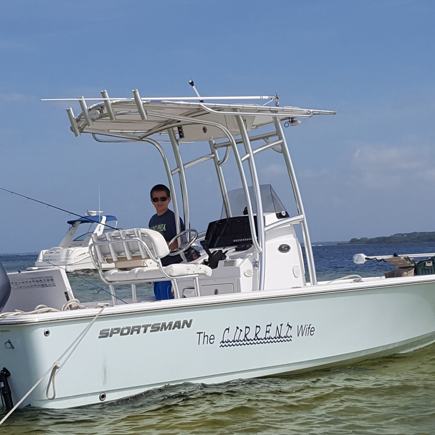 Title: A day at the island - On board their Sportsman Masters 227 Bay Boat - Location: Panama City,fl. Participating in the Photo Contest #SportsmanNovember2017