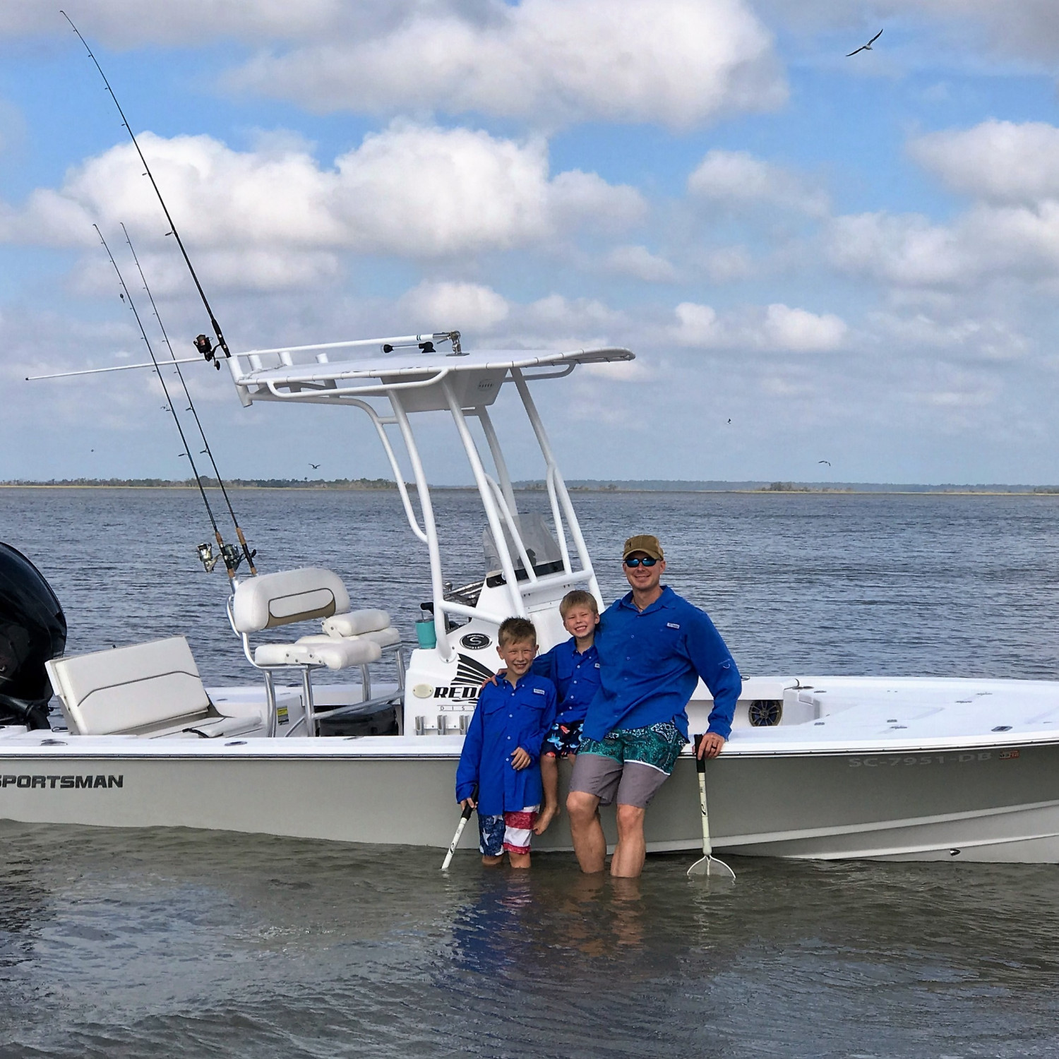 Title: The family's first trip in our new Sportsman - On board their Sportsman Tournament 214 Bay Boat - Location: Wassaw National Wildlife Refuge, Ogeechee River, Savannah, GA. Participating in the Photo Contest #SportsmanNovember2017
