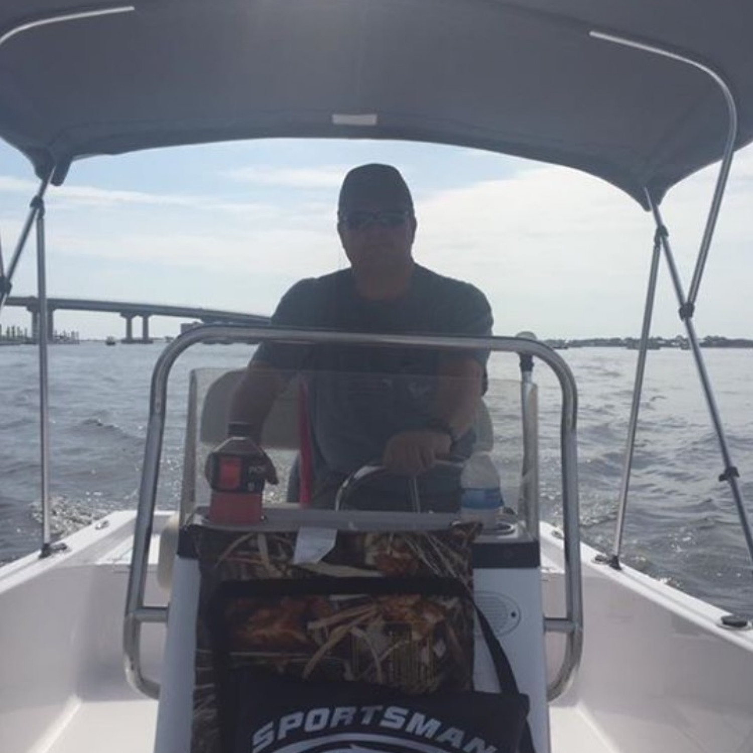 Title: Maiden Voyage - On board their Sportsman Island Reef 17 Center Console - Location: Orange Beach, Alabama. Participating in the Photo Contest #SportsmanNovember2017