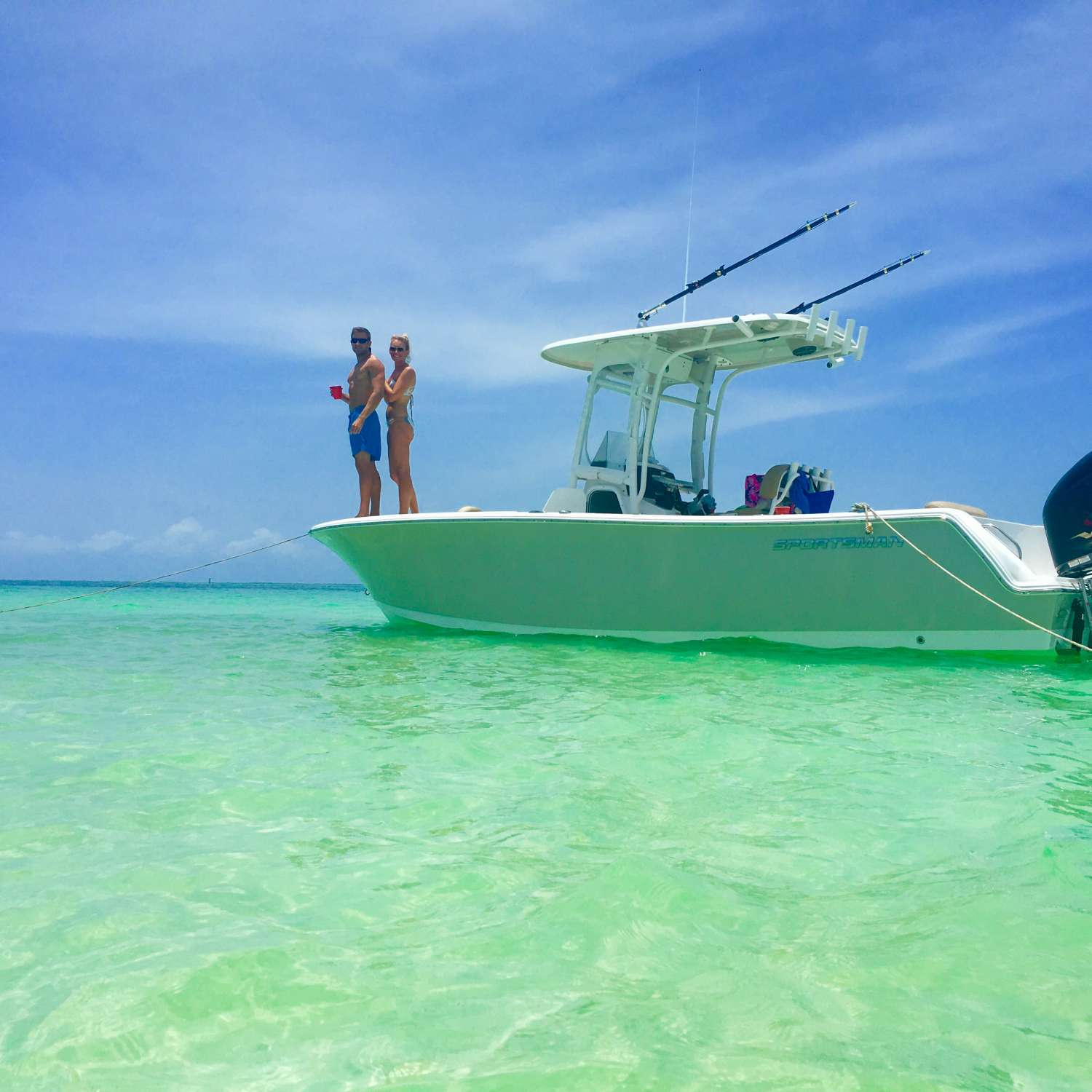 Title: Sandbar Saturdays - On board their Sportsman Open 232 Center Console - Location: Jacksonville, Florida. Participating in the Photo Contest #SportsmanSeptember2017