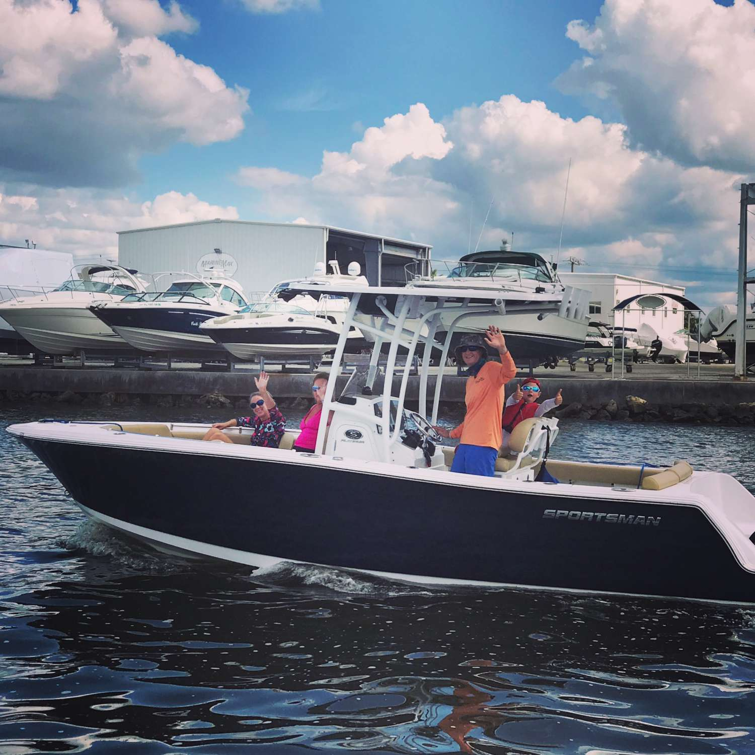 Title: Family Fun - On board their Sportsman Heritage 231 Center Console - Location: Parrish, Florida. Participating in the Photo Contest #SportsmanSeptember2017