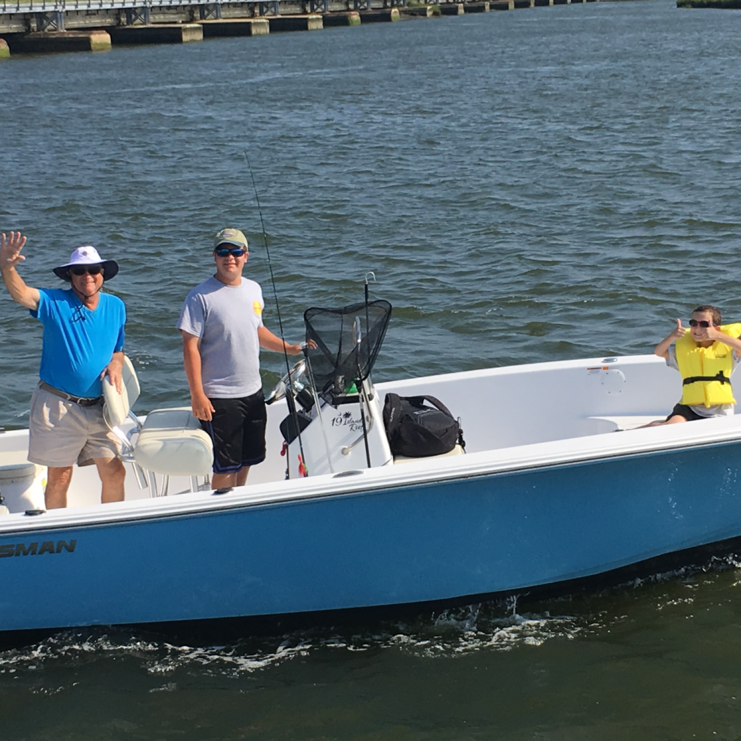 Title: Grandpa And His Grandsons - On board their Sportsman Island Reef 19 Center Console - Location: Wall, New Jersey. Participating in the Photo Contest #SportsmanSeptember2017