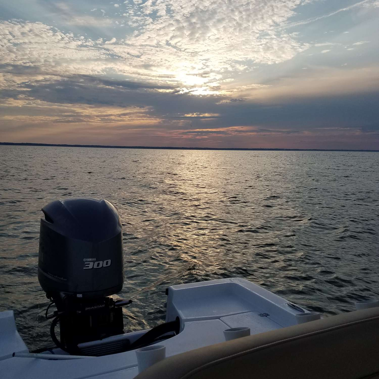 Title: Choptank River Sunset - On board their Sportsman Masters 247 Bay Boat - Location: Trappe, Maryland. Participating in the Photo Contest #SportsmanSeptember2017