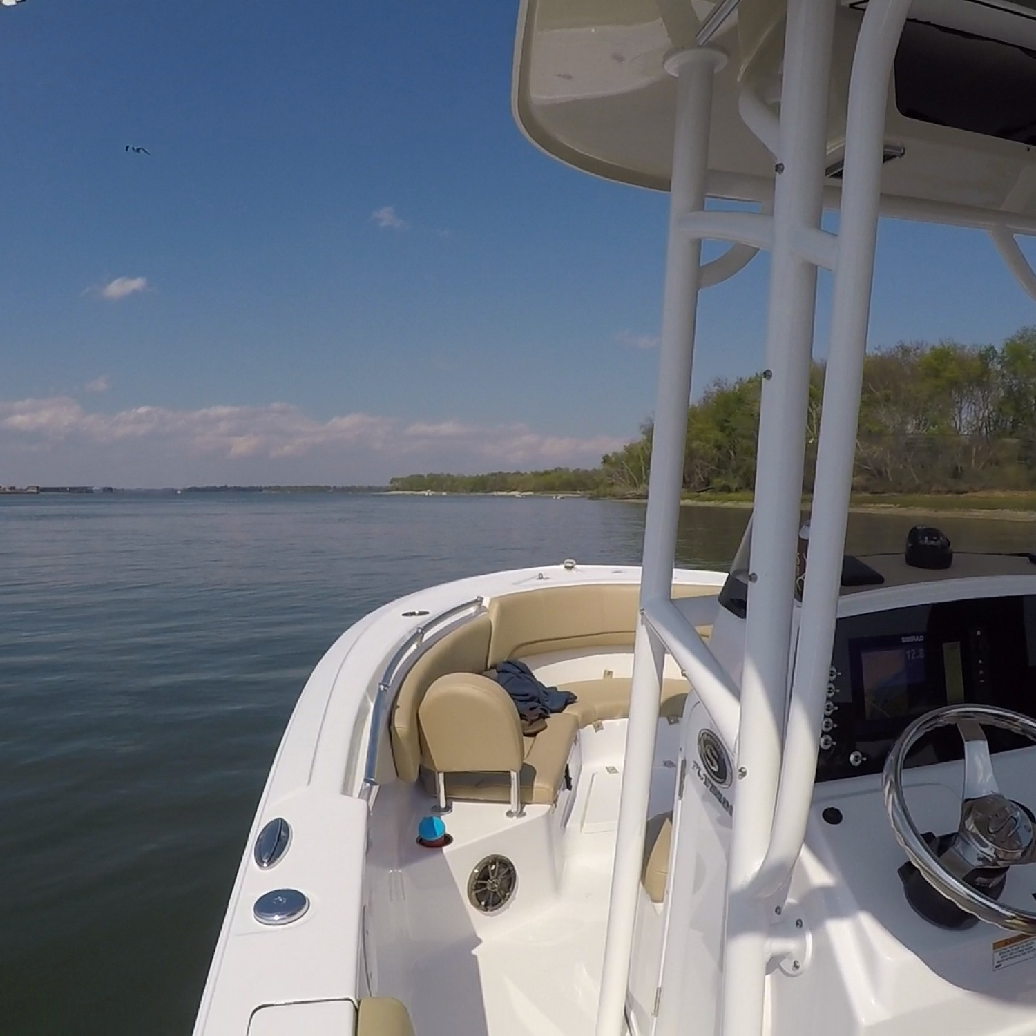 Title: Calm waters - On board their Sportsman Heritage 231 Center Console - Location: Cooper River near Drum Island, Charleston SC. Participating in the Photo Contest #SportsmanApril2018