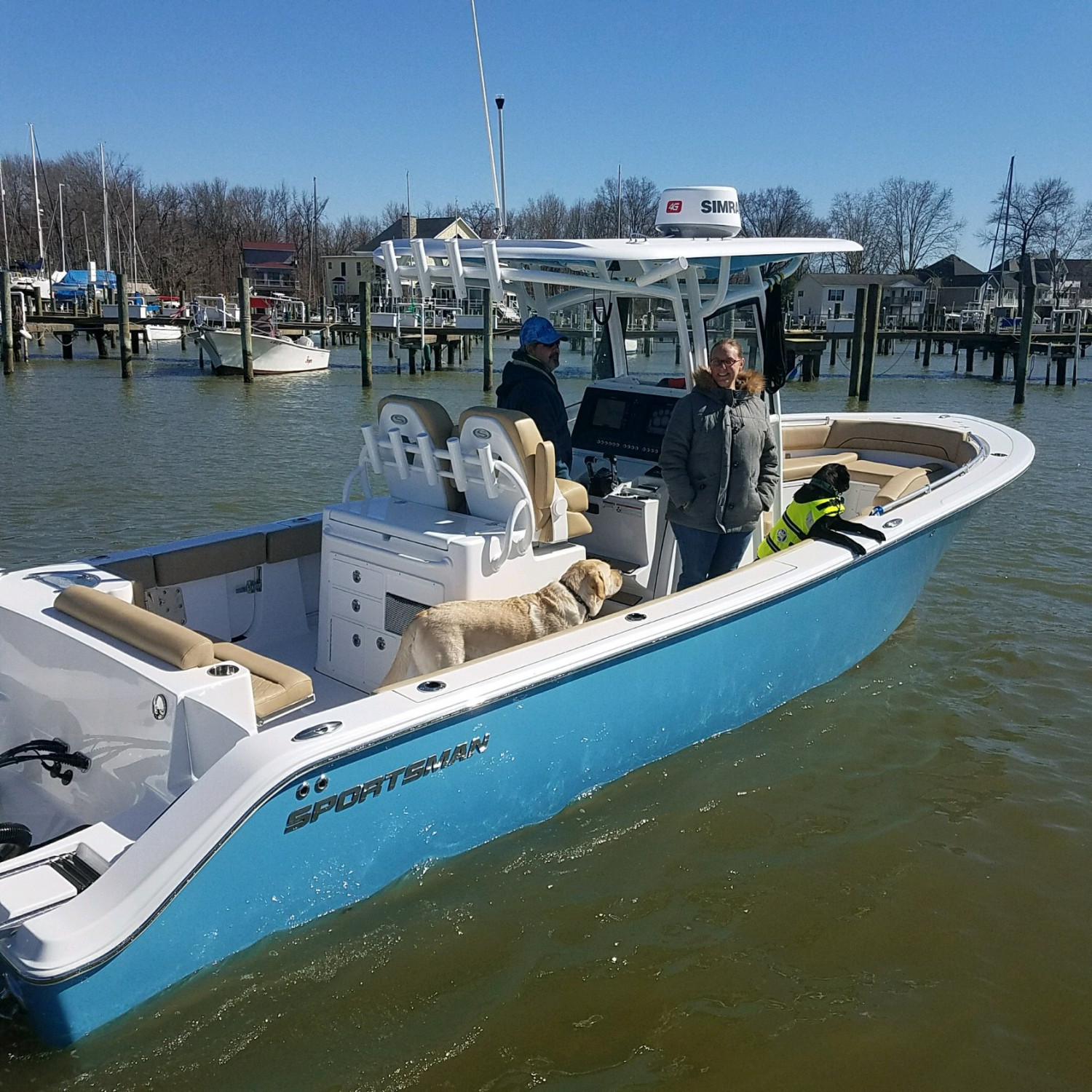Title: Maybe chilly but we are boating. - On board their Sportsman Open 282 Center Console - Location: Middle river maryland. Participating in the Photo Contest #SportsmanApril2018