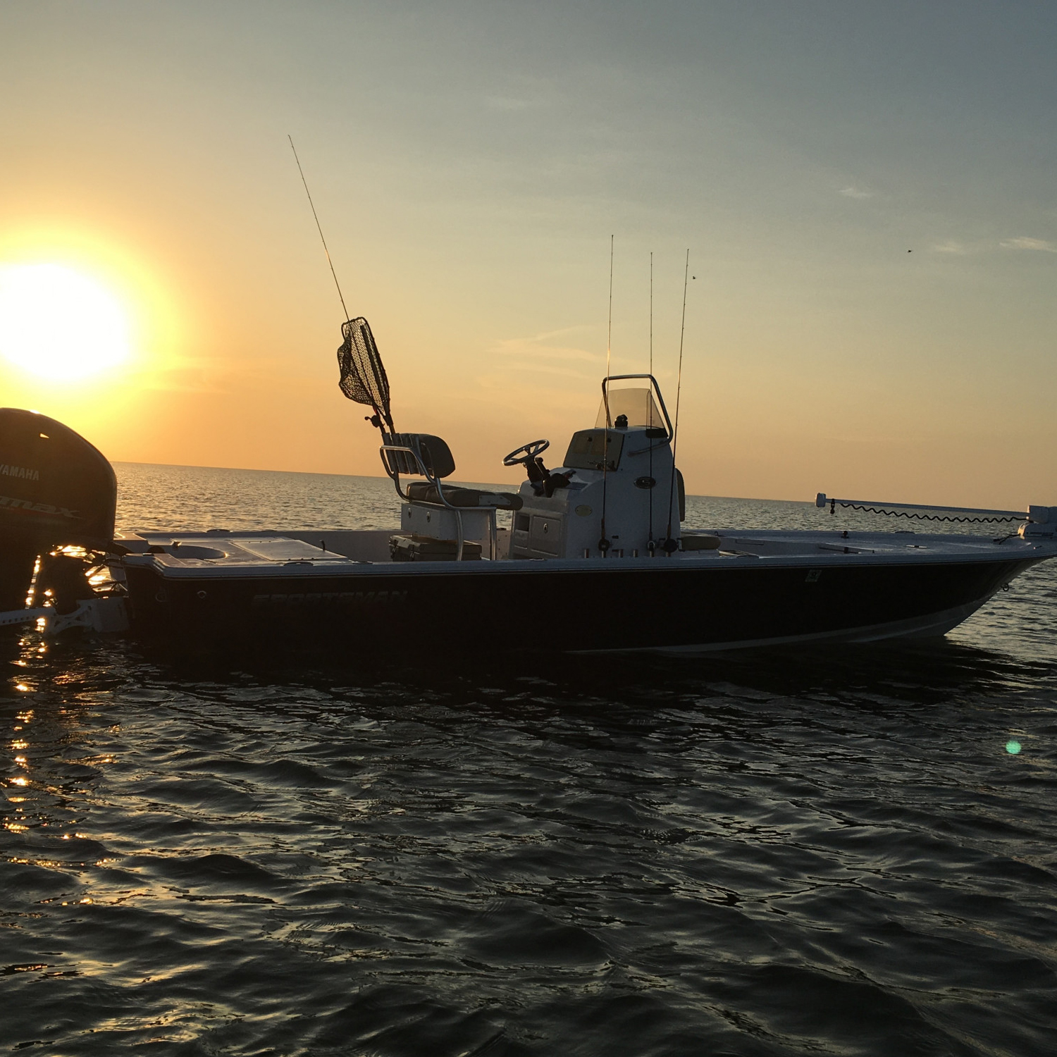Title: Wade fishing - On board their Sportsman Tournament 234 Bay Boat - Location: East Galveston Bay, Texas. Participating in the Photo Contest #SportsmanApril2018