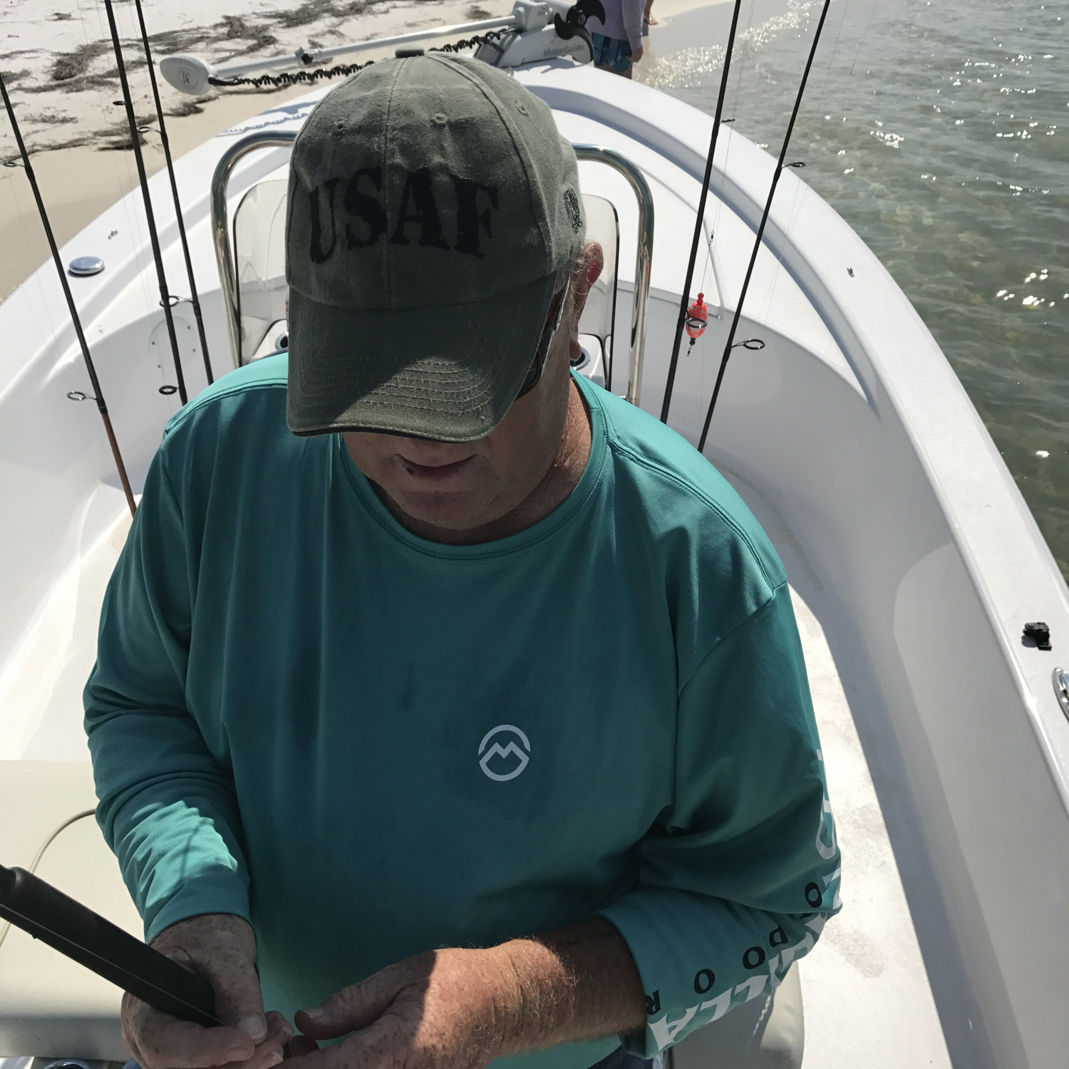 Title: Fishing with Pops - On board their Sportsman Island Bay 20 Bay Boat - Location: Panama City FL. Participating in the Photo Contest #SportsmanApril2018