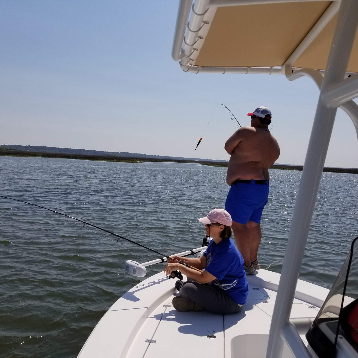 Title: Fishing with the family. - On board their Sportsman Masters 227 Bay Boat - Location: Brunswick Ga. Participating in the Photo Contest #SportsmanApril2018