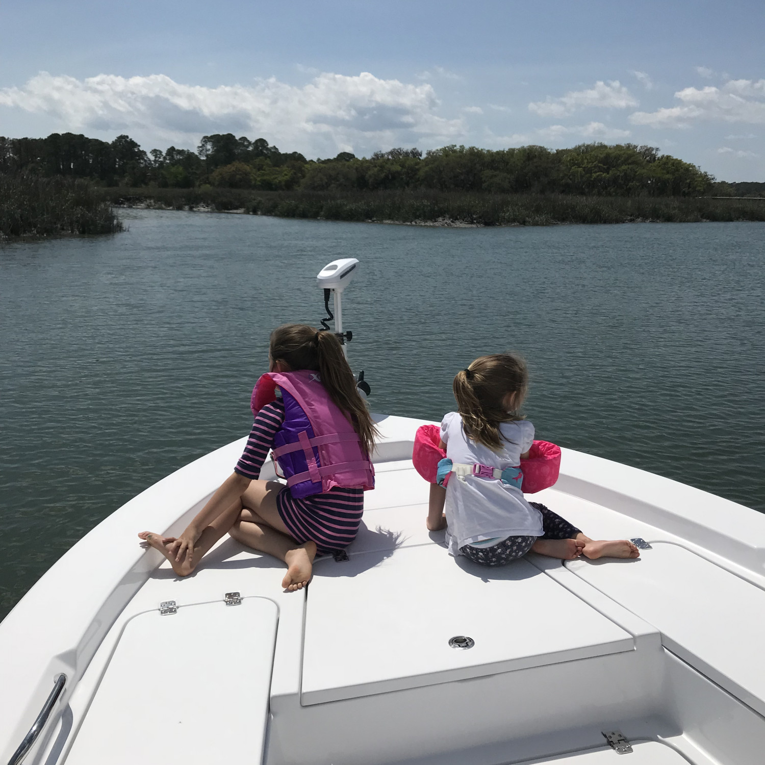 Title: Exploring new fishing spots - On board their Sportsman Masters 227 Bay Boat - Location: Beaufort SC. Participating in the Photo Contest #SportsmanApril2018