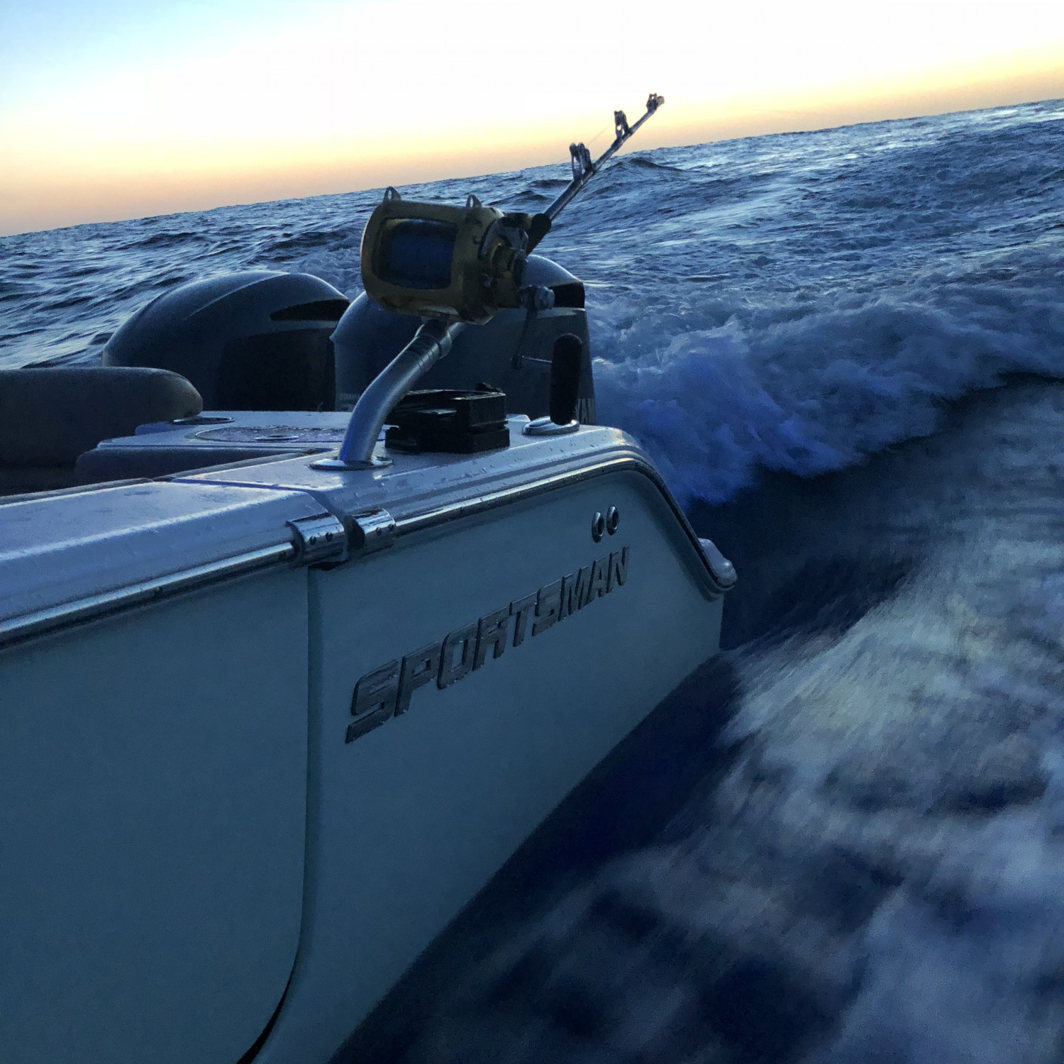 Title: Easter sunrise - On board their Sportsman Open 282 Center Console - Location: Gulf Stream out of little river, sc. Participating in the Photo Contest #SportsmanApril2018