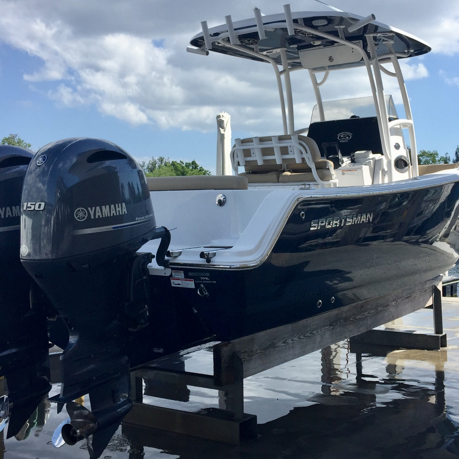 Title: Delivery Day - On board their Sportsman Heritage 251 Center Console - Location: Tarpon Springs, FL. Participating in the Photo Contest #SportsmanApril2018