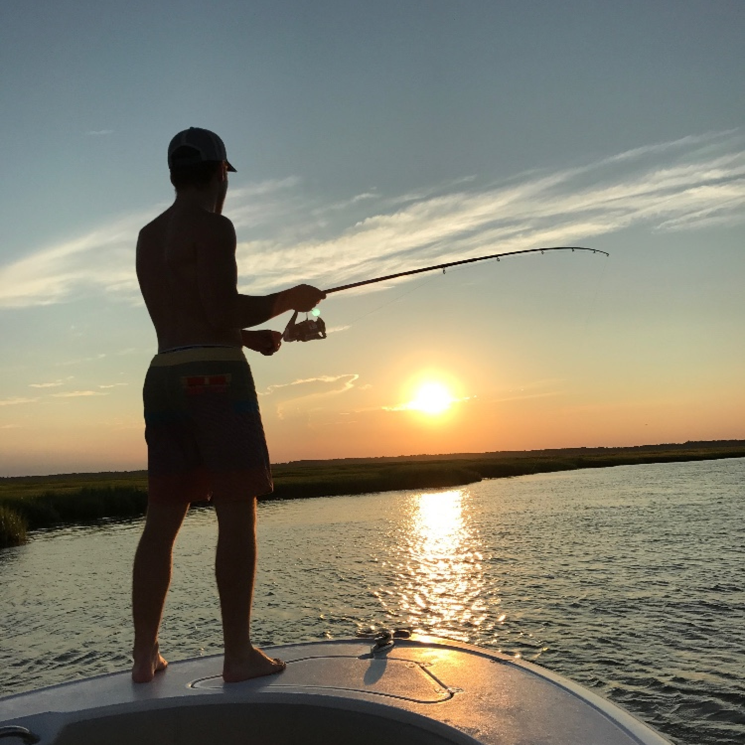 Title: Back Bay Striper Fishing - On board their Sportsman Heritage 231 Center Console - Location: Stone Harbor, NJ. Participating in the Photo Contest #SportsmanApril2018