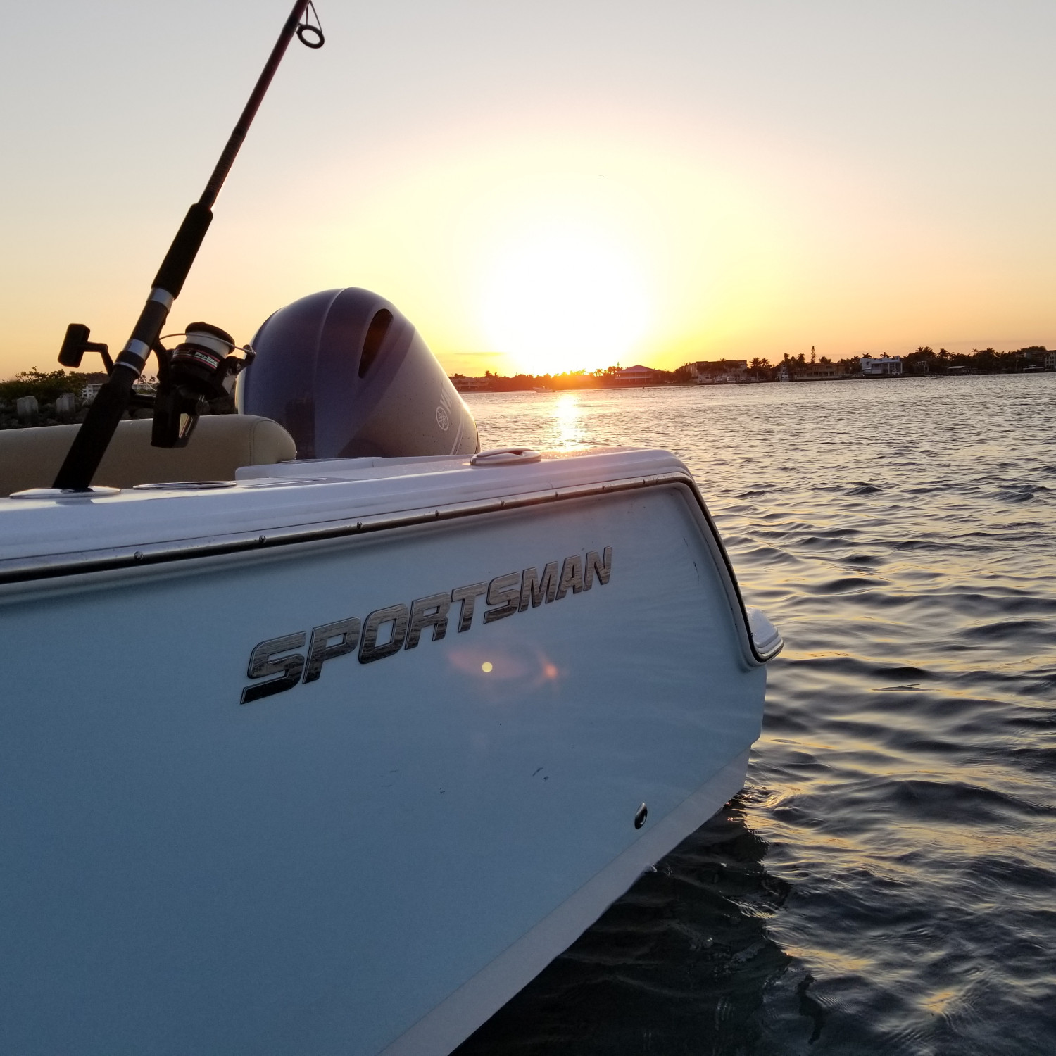 Title: A Sportsman Sunset - On board their Sportsman Open 232 Center Console - Location: Beer Can Island, Boynton Beach,  FL. Participating in the Photo Contest #SportsmanApril2018