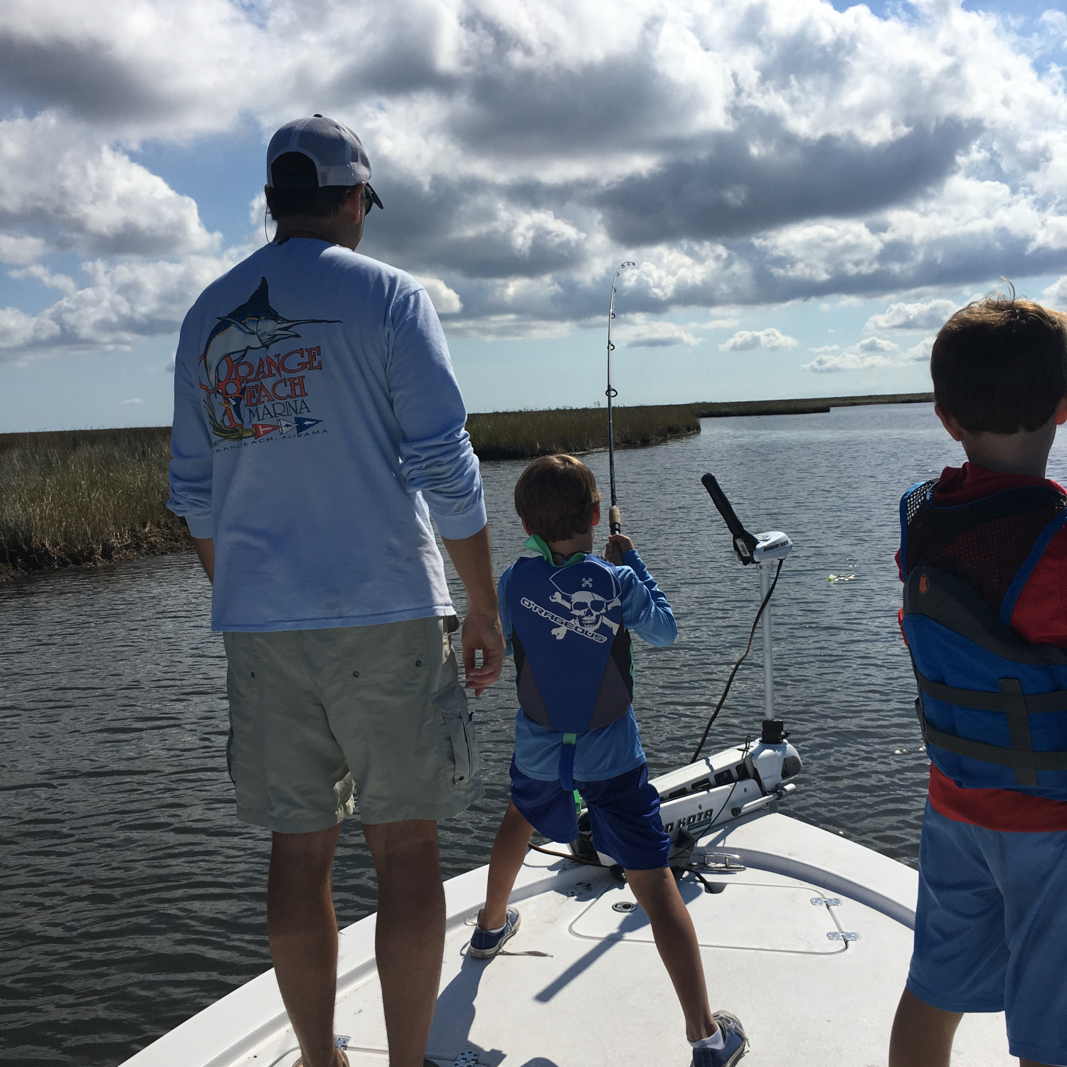 Title: Hooked Up! - On board their Sportsman Tournament 214 Bay Boat - Location: Breton Sound Louisiana. Participating in the Photo Contest #SportsmanApril2018