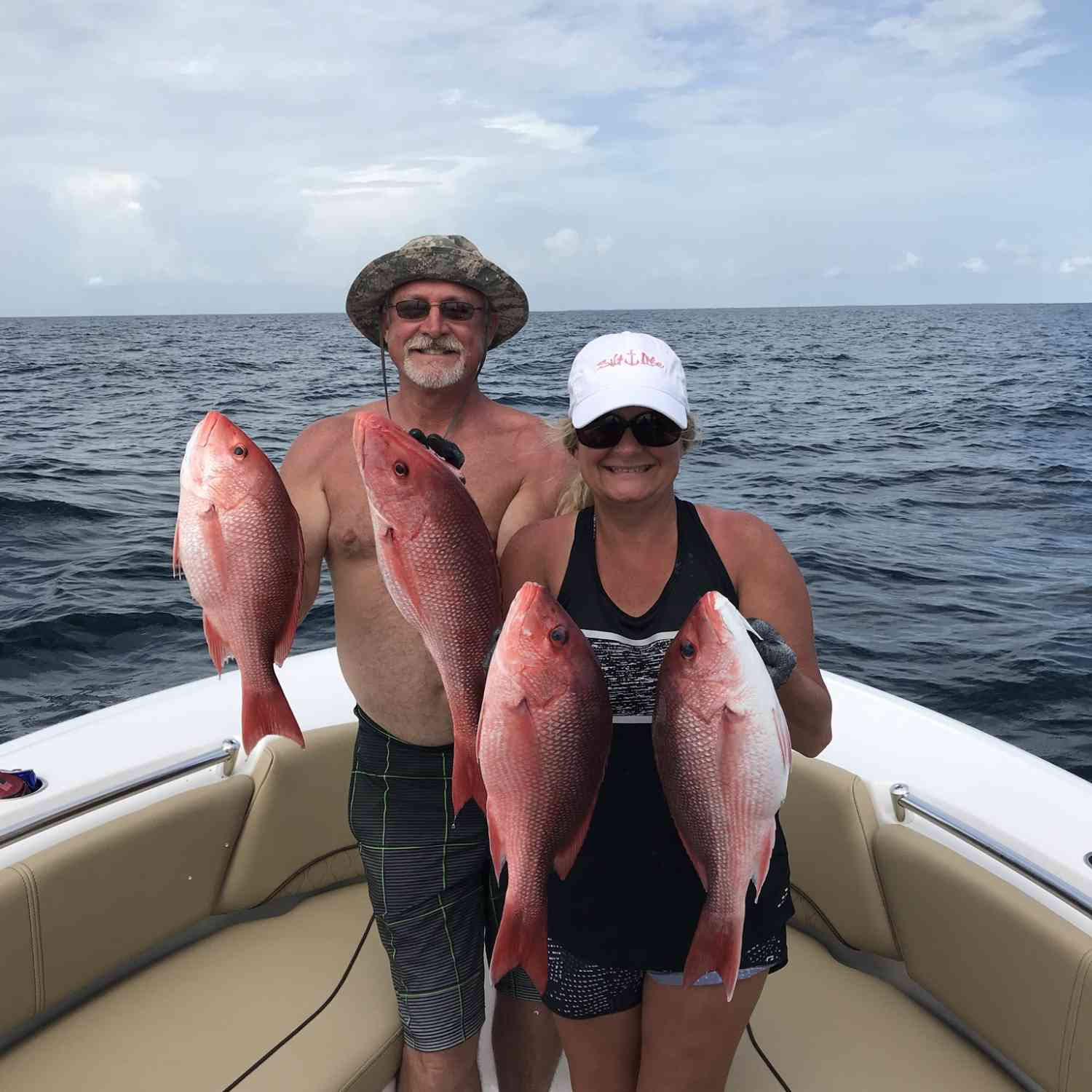 Title: Snapper in the gulf - On board their Sportsman Open 232 Center Console - Location: Mexico beach. Participating in the Photo Contest #SportsmanAugust2018