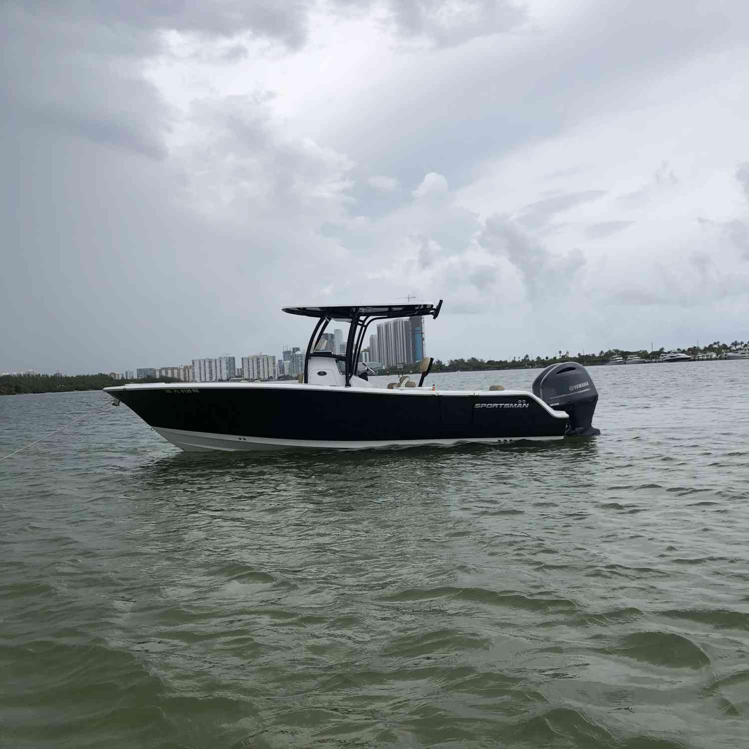 Title: Robert Sportsman 252 - On board their Sportsman Open 252 Center Console - Location: Miami FL. Participating in the Photo Contest #SportsmanAugust2018