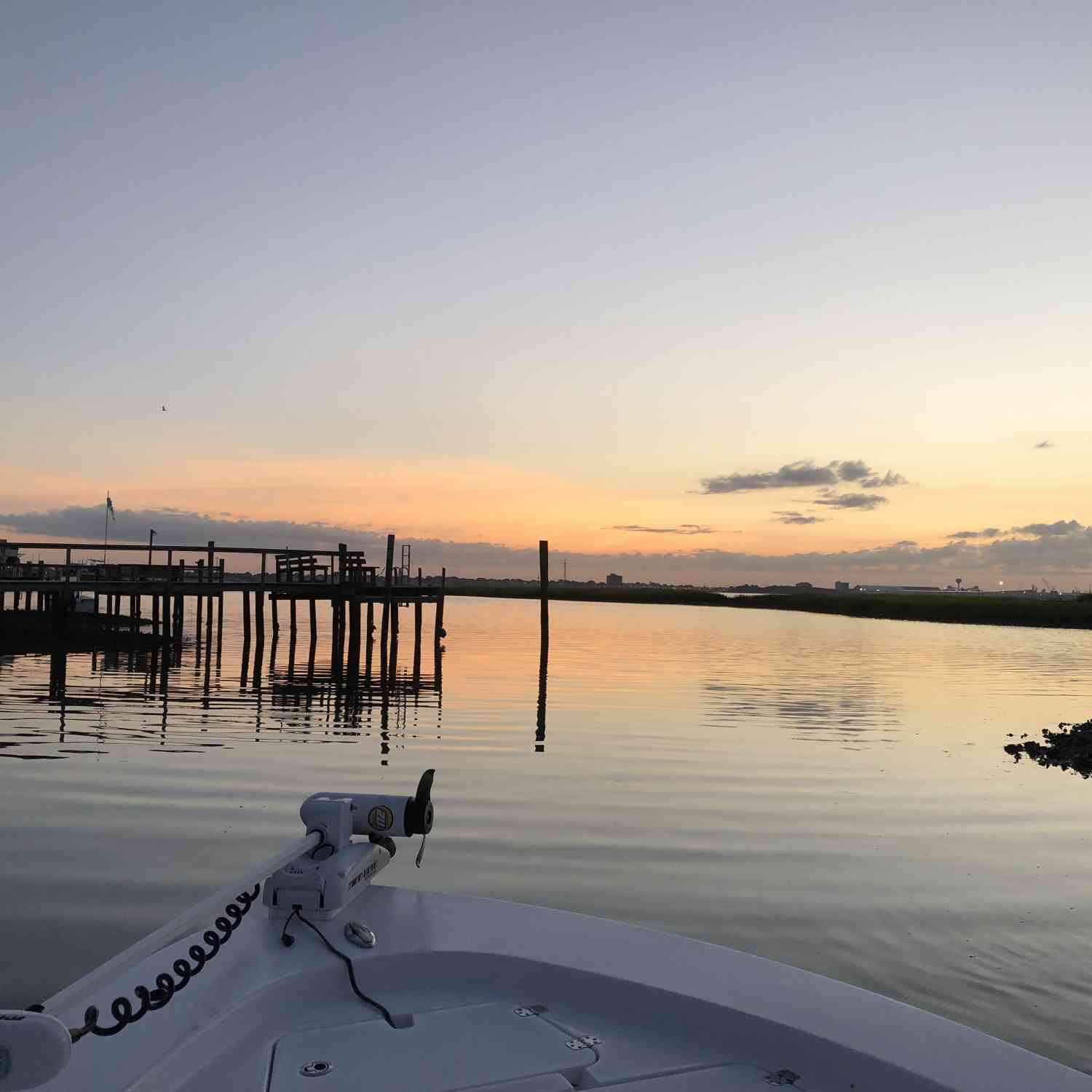 Title: Sunrise - On board their Sportsman Masters 247 Bay Boat - Location: Atlantic Beach , NC. Participating in the Photo Contest #SportsmanAugust2018