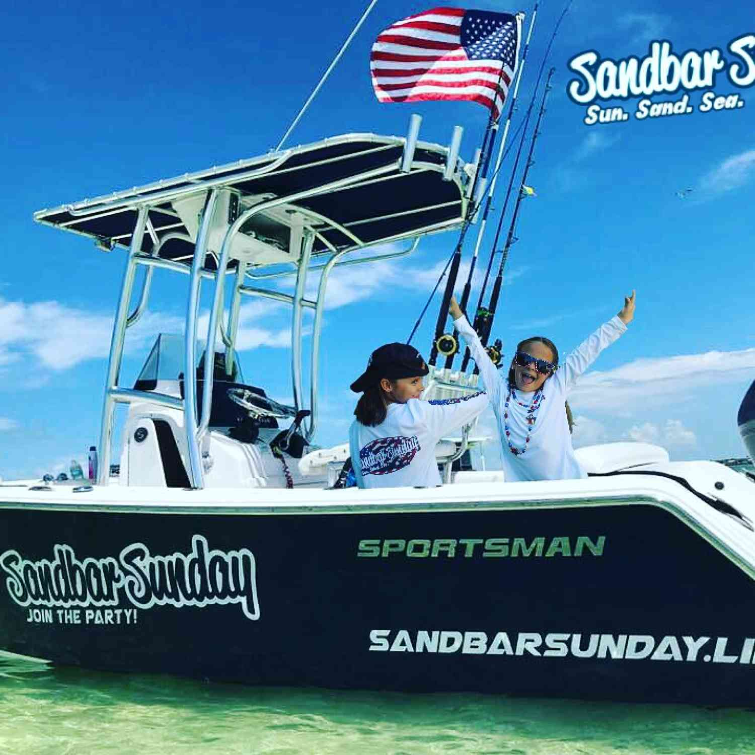 Title: Sandbar Sunday - On board their Sportsman Heritage 211 Center Console - Location: Islamorada Sandbar. Participating in the Photo Contest #SportsmanAugust2018