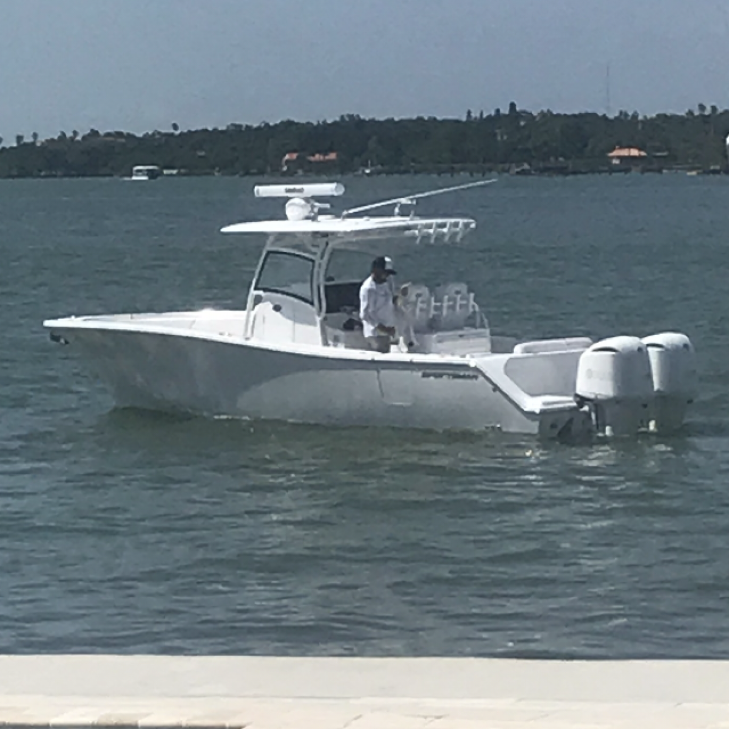Title: Leaving port - On board their Sportsman Open 312 Center Console - Location: St. Petersburg Florida. Participating in the Photo Contest #SportsmanAugust2018