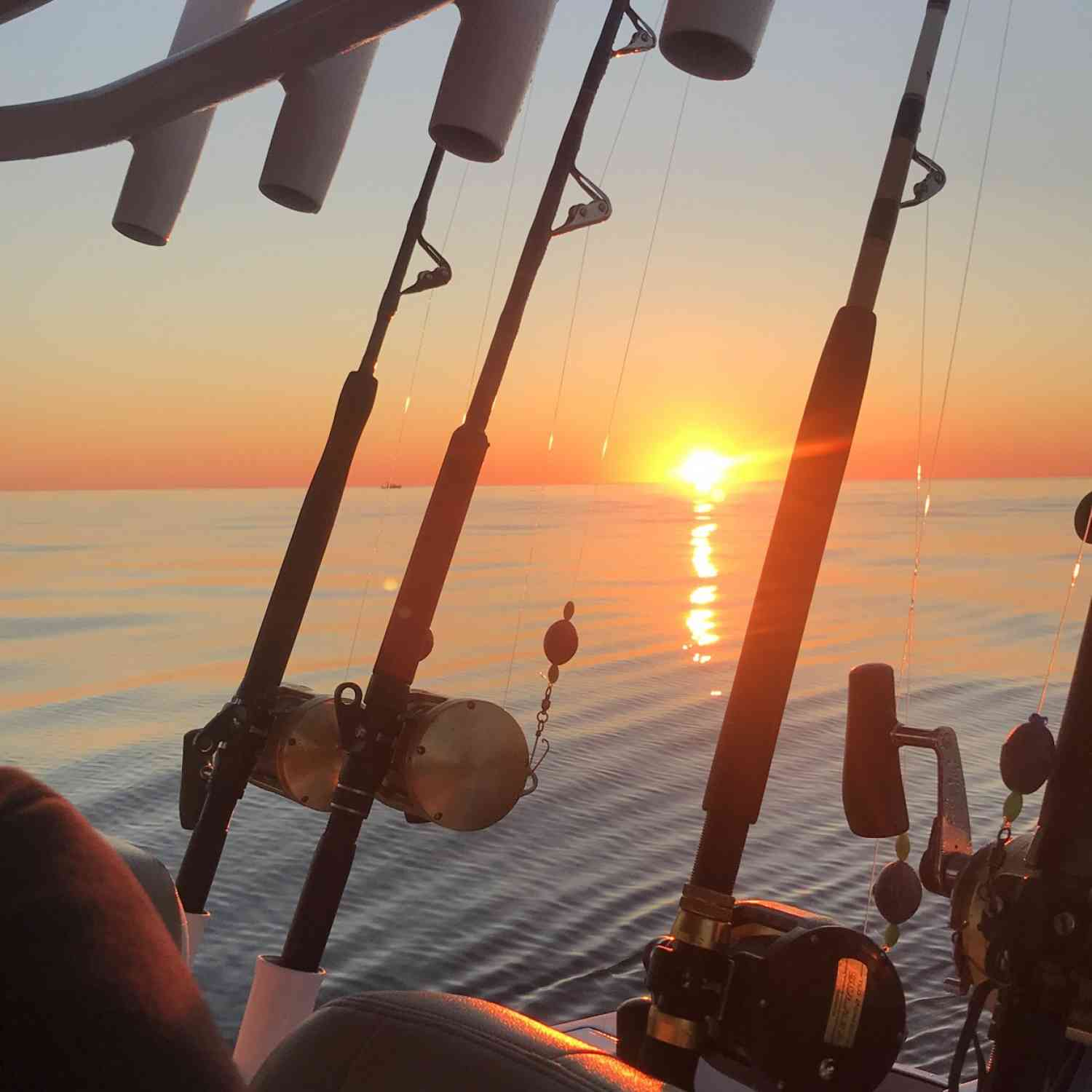 Title: Sunrise at sea - On board their Sportsman Open 312 Center Console - Location: Portland Maine. Participating in the Photo Contest #SportsmanAugust2018