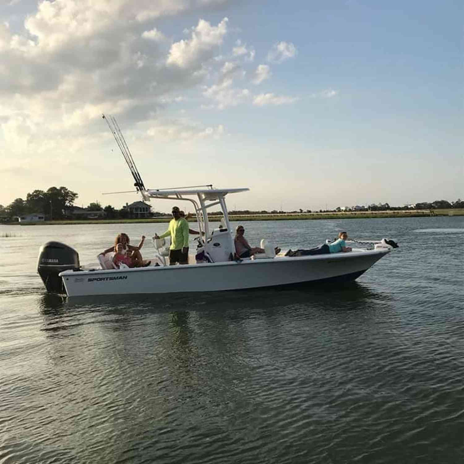 Title: It's Tybee Time - On board their Sportsman Masters 247 Bay Boat - Location: Tybee Island, GA. Participating in the Photo Contest #SportsmanAugust2018