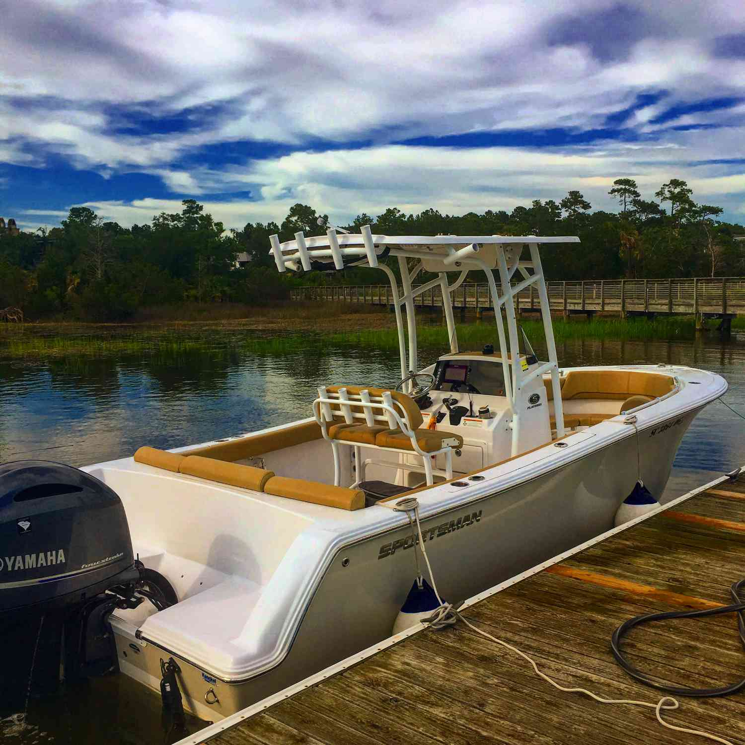 Title: Evening Cruise - On board their Sportsman Heritage 231 Center Console - Location: Charleston, South Carolina. Participating in the Photo Contest #SportsmanAugust2018
