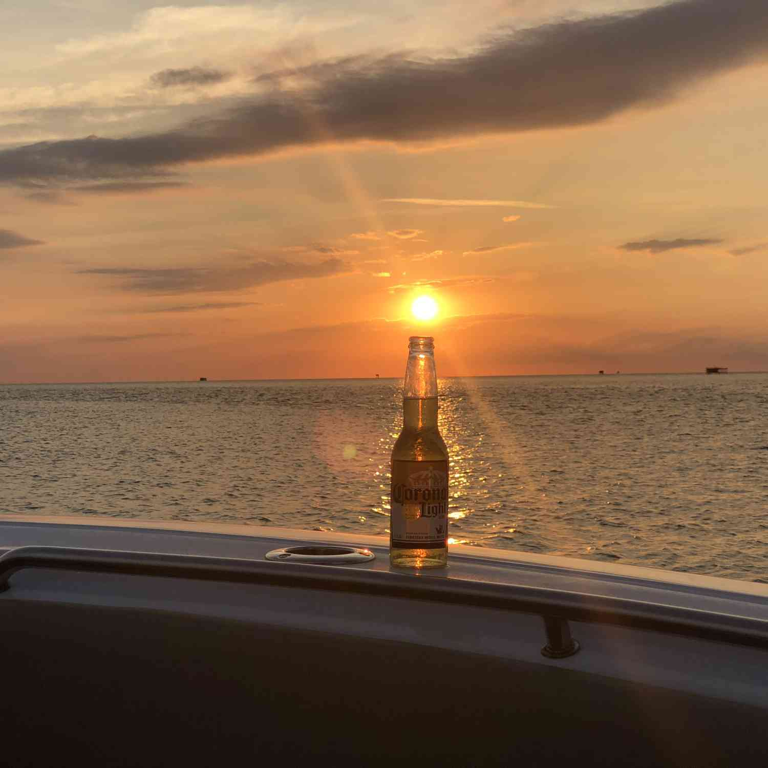 Title: Sunset - On board their Sportsman Open 252 Center Console - Location: Nags Head, NC. Participating in the Photo Contest #SportsmanAugust2018