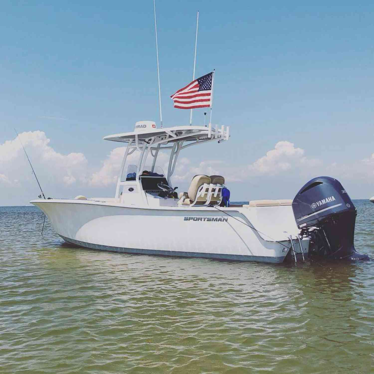 Title: Island time - On board their Sportsman Heritage 241 Center Console - Location: Gulfport Mississippi. Participating in the Photo Contest #SportsmanAugust2018