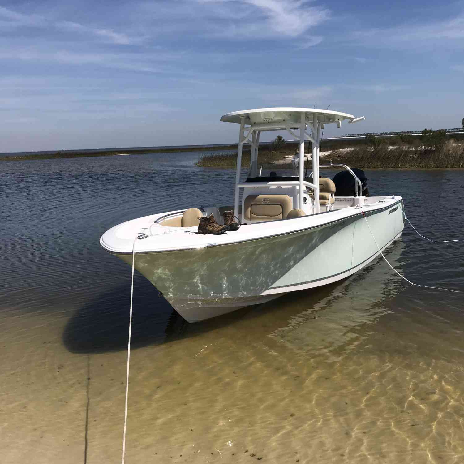 Title: Island hopping - On board their Sportsman Open 232 Center Console - Location: Cat island, MS. Participating in the Photo Contest #SportsmanAugust2018