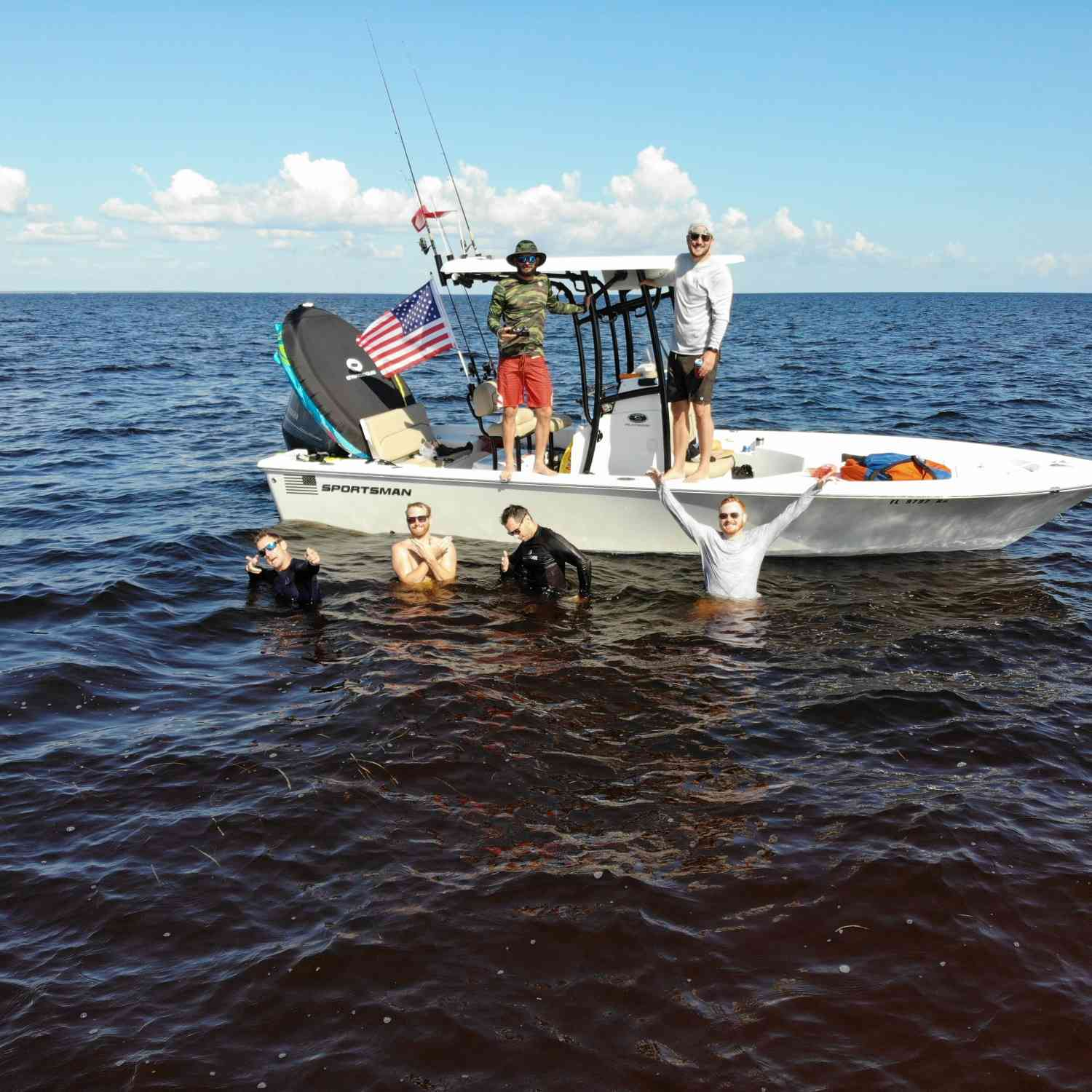 Title: bachelor party - On board their Sportsman Masters 227 Bay Boat - Location: steinhatchee fl. Participating in the Photo Contest #SportsmanAugust2018