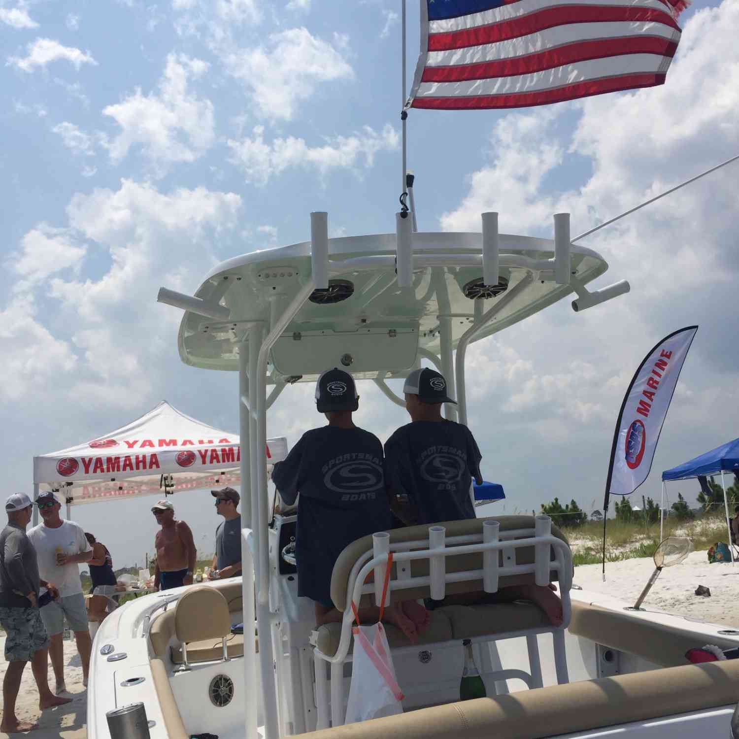Title: Future SBOs - On board their Sportsman Heritage 211 Center Console - Location: Orange Beach, Alabama. Participating in the Photo Contest #SportsmanAugust2018
