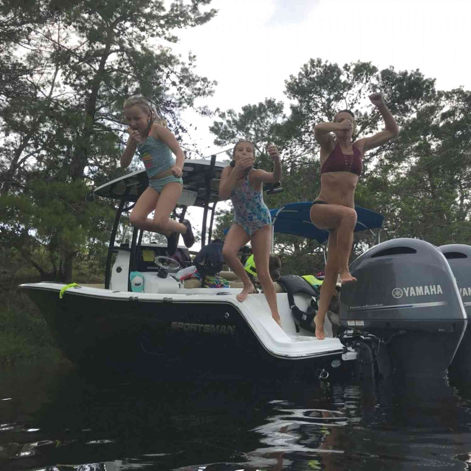 Title: Always a fun time on our Sportsman - On board their Sportsman Open 252 Center Console - Location: Ruskin, Florida. Participating in the Photo Contest #SportsmanAugust2018