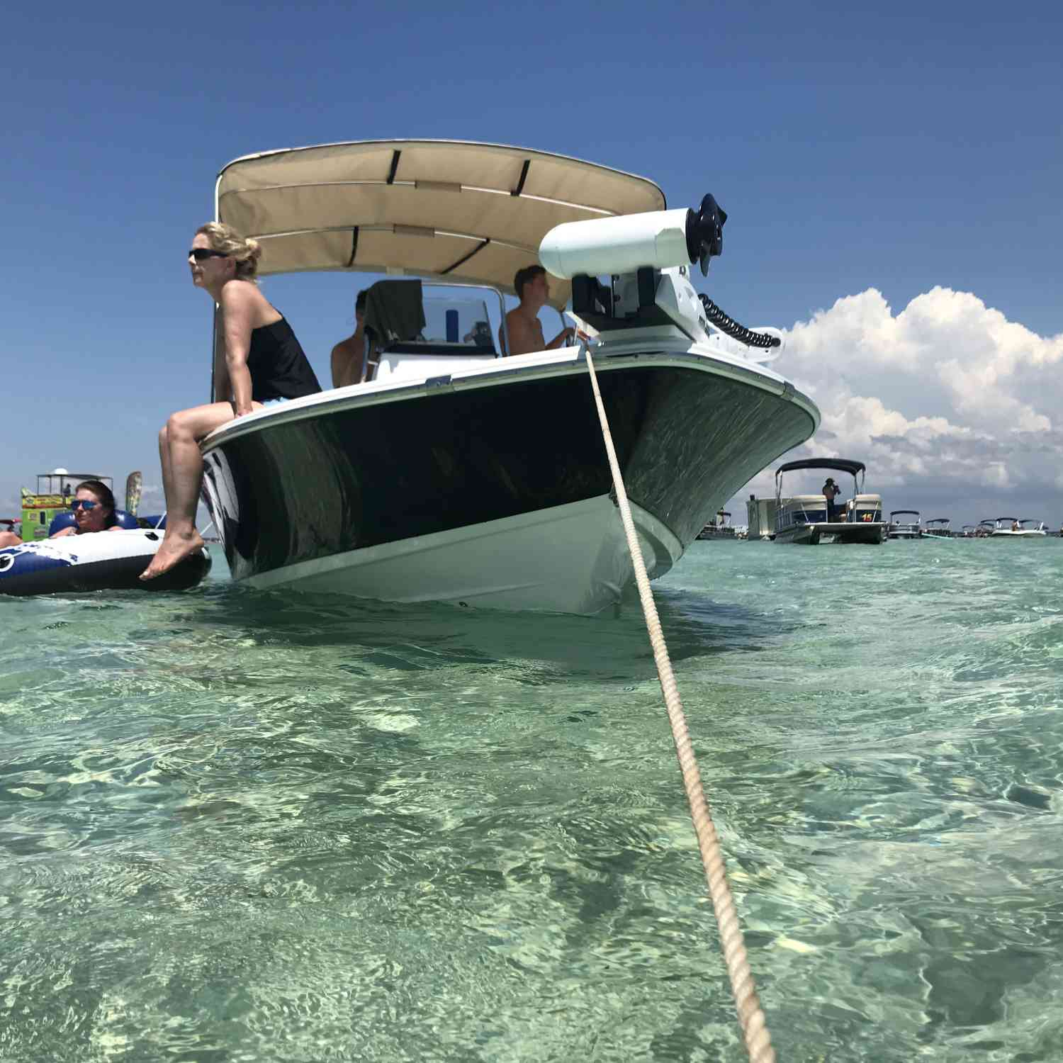 Title: Crab Island - On board their Sportsman Tournament 214 Bay Boat - Location: Destin, Florida. Participating in the Photo Contest #SportsmanAugust2018