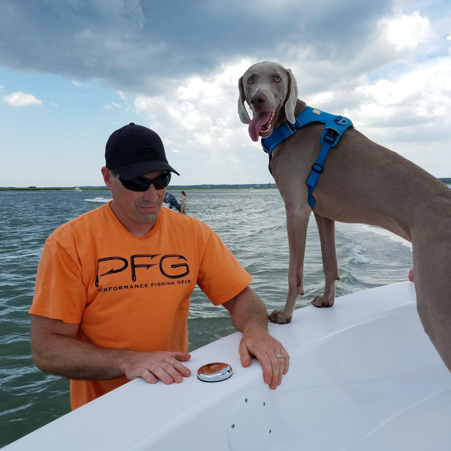 Title: Dog Days - On board their Sportsman Island Reef 19 Center Console - Location: Wrightsville Beach NC. Participating in the Photo Contest #SportsmanFebruary2018