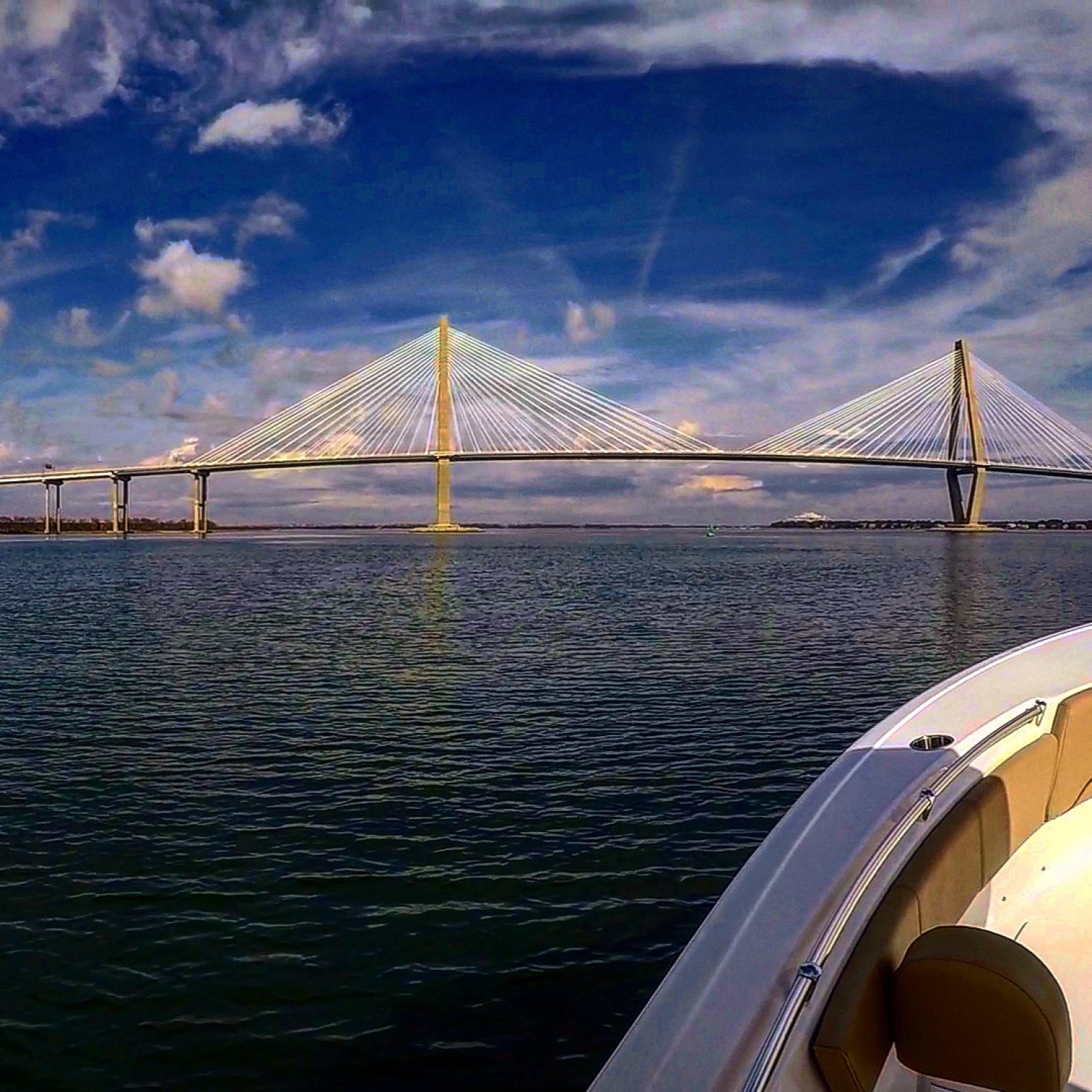Title: Cooper River Bridge - On board their Sportsman Heritage 231 Center Console - Location: Charleston, SC. Participating in the Photo Contest #SportsmanFebruary2018