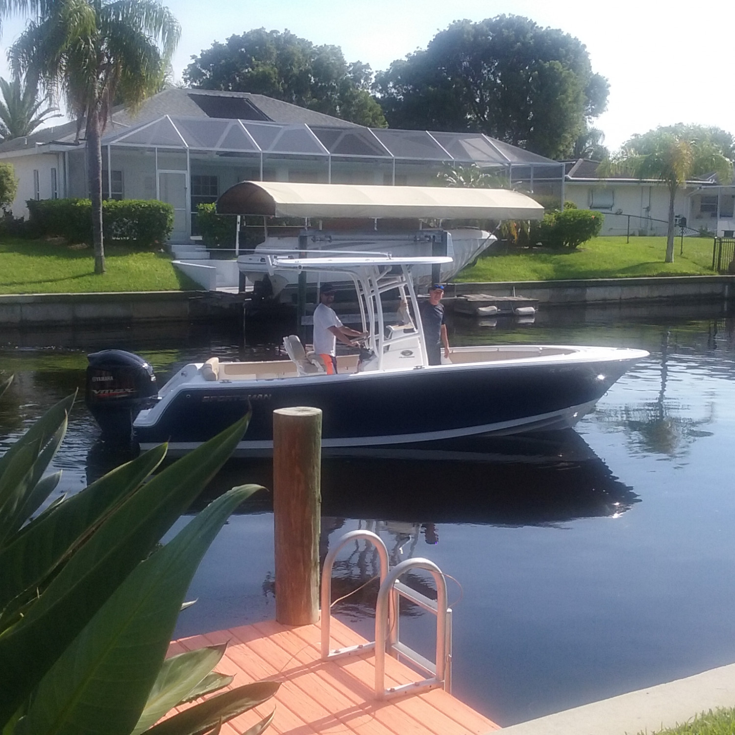 Title: Cruising through the neighborhood - On board their Sportsman Heritage 231 Center Console - Location: Cape Coral, FL. Participating in the Photo Contest #SportsmanFebruary2018