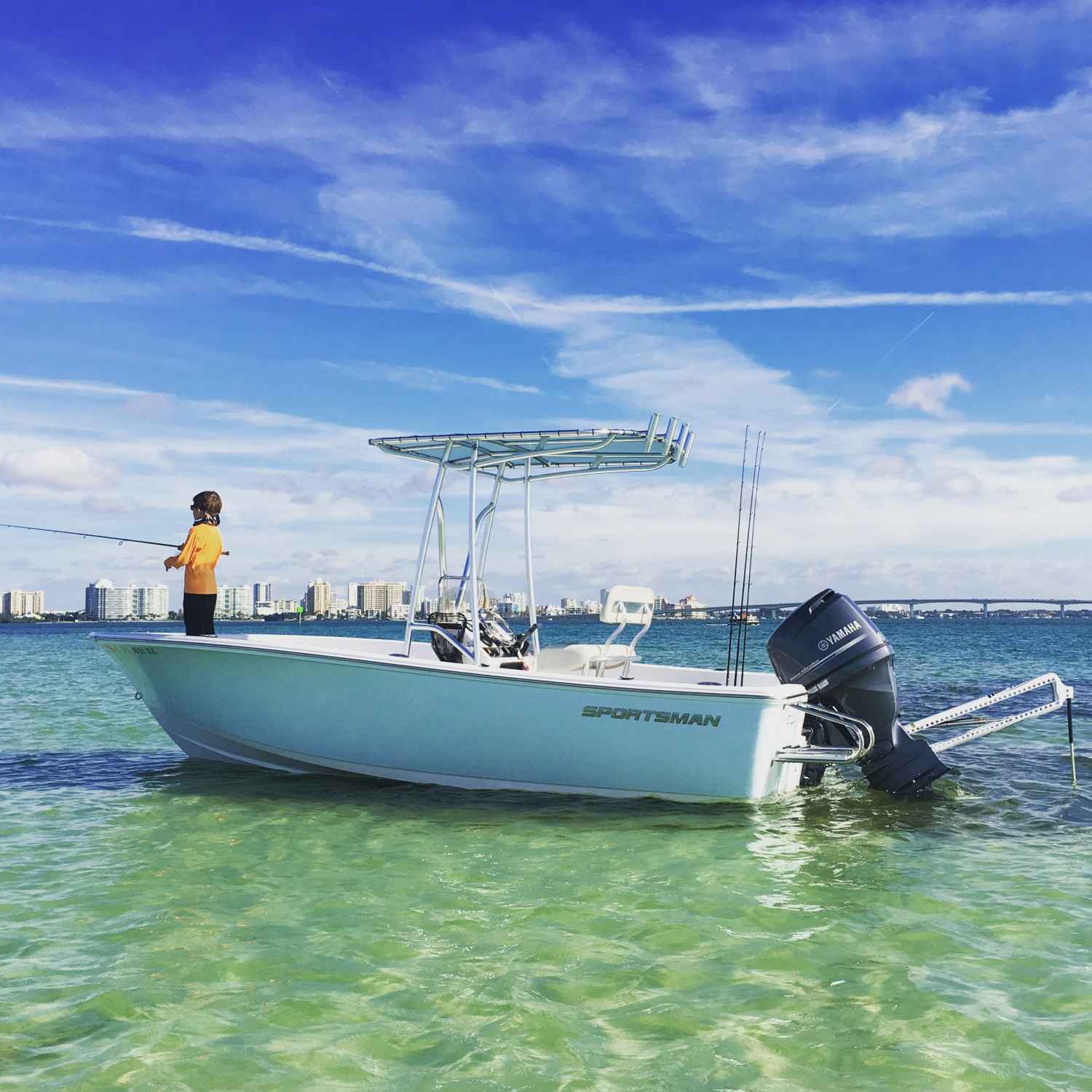 Title: Downtown Sarasota florida - On board their Sportsman Island Reef 19 Center Console - Location: sarasota florida. Participating in the Photo Contest #SportsmanFebruary2018