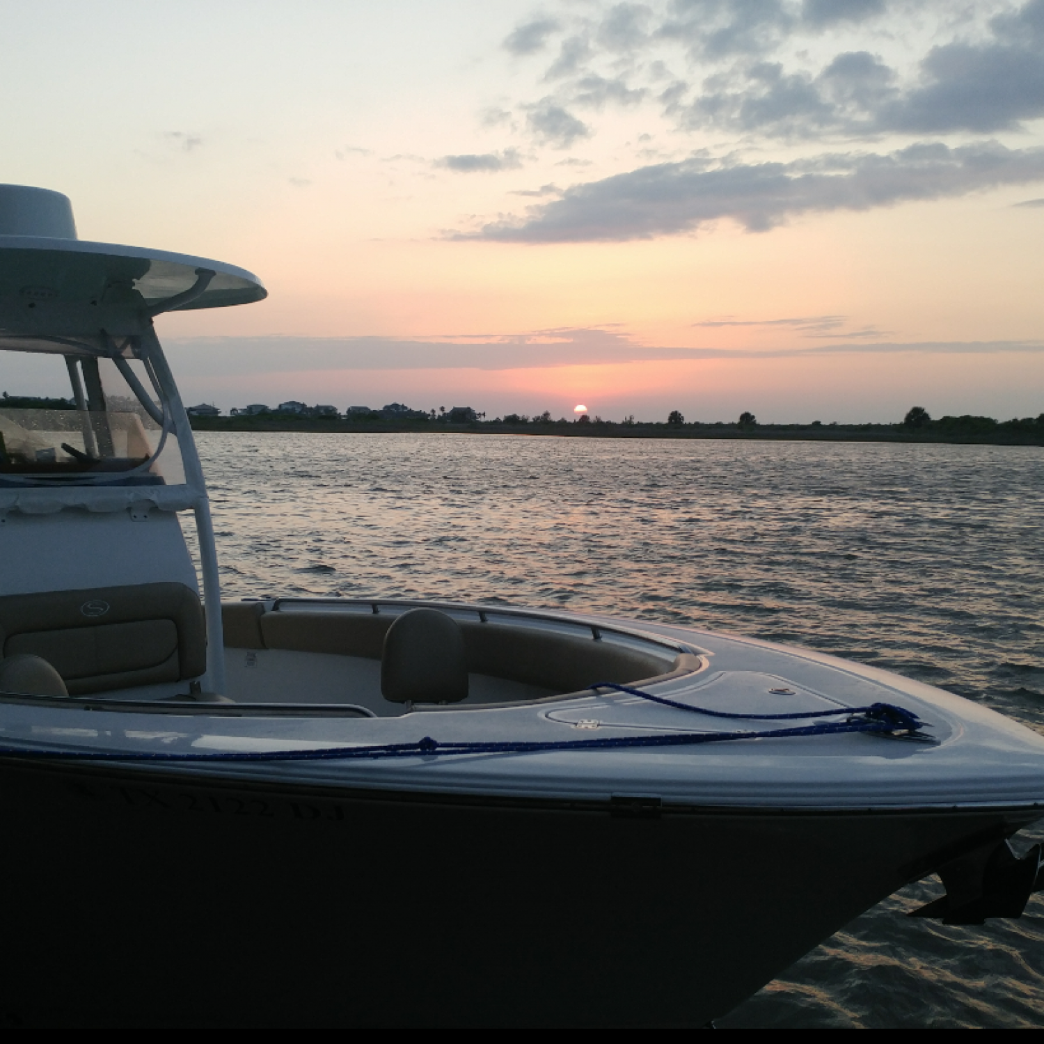 Title: Sportsman Sunset - On board their Sportsman Heritage 251 Center Console - Location: Galveston, TX. Participating in the Photo Contest #SportsmanFebruary2018